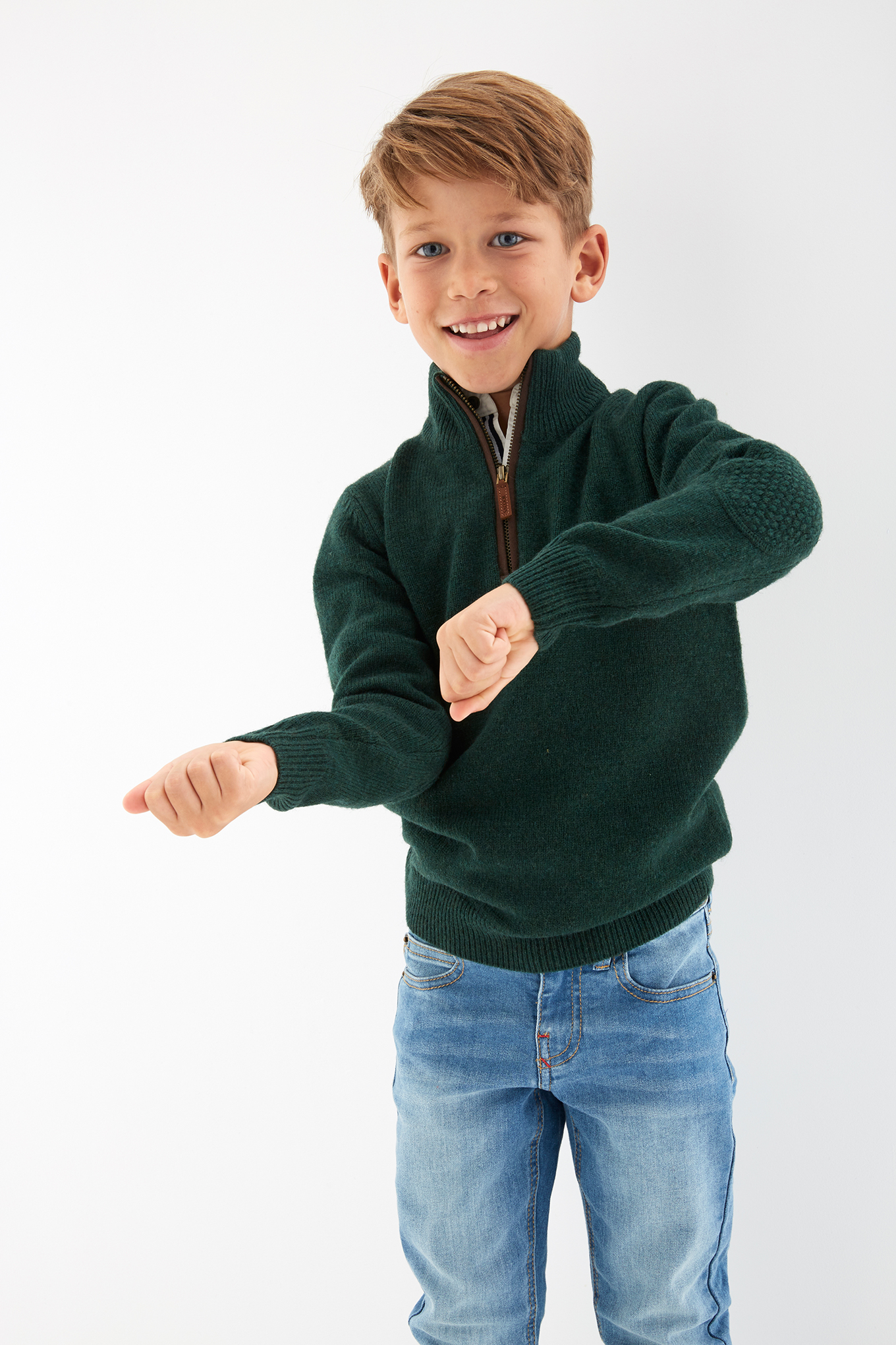 Sweater Dark Green Sport Boy