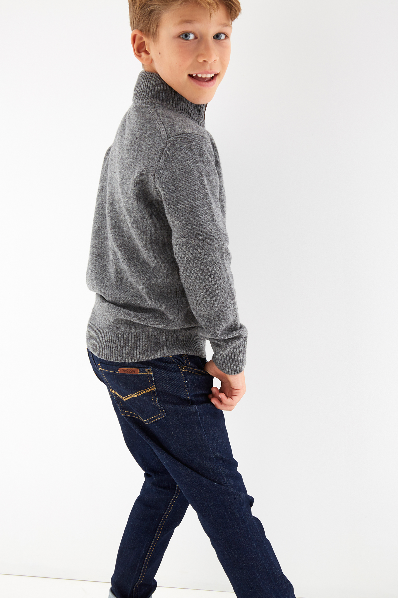 Sweater Mix Grey Sport Boy