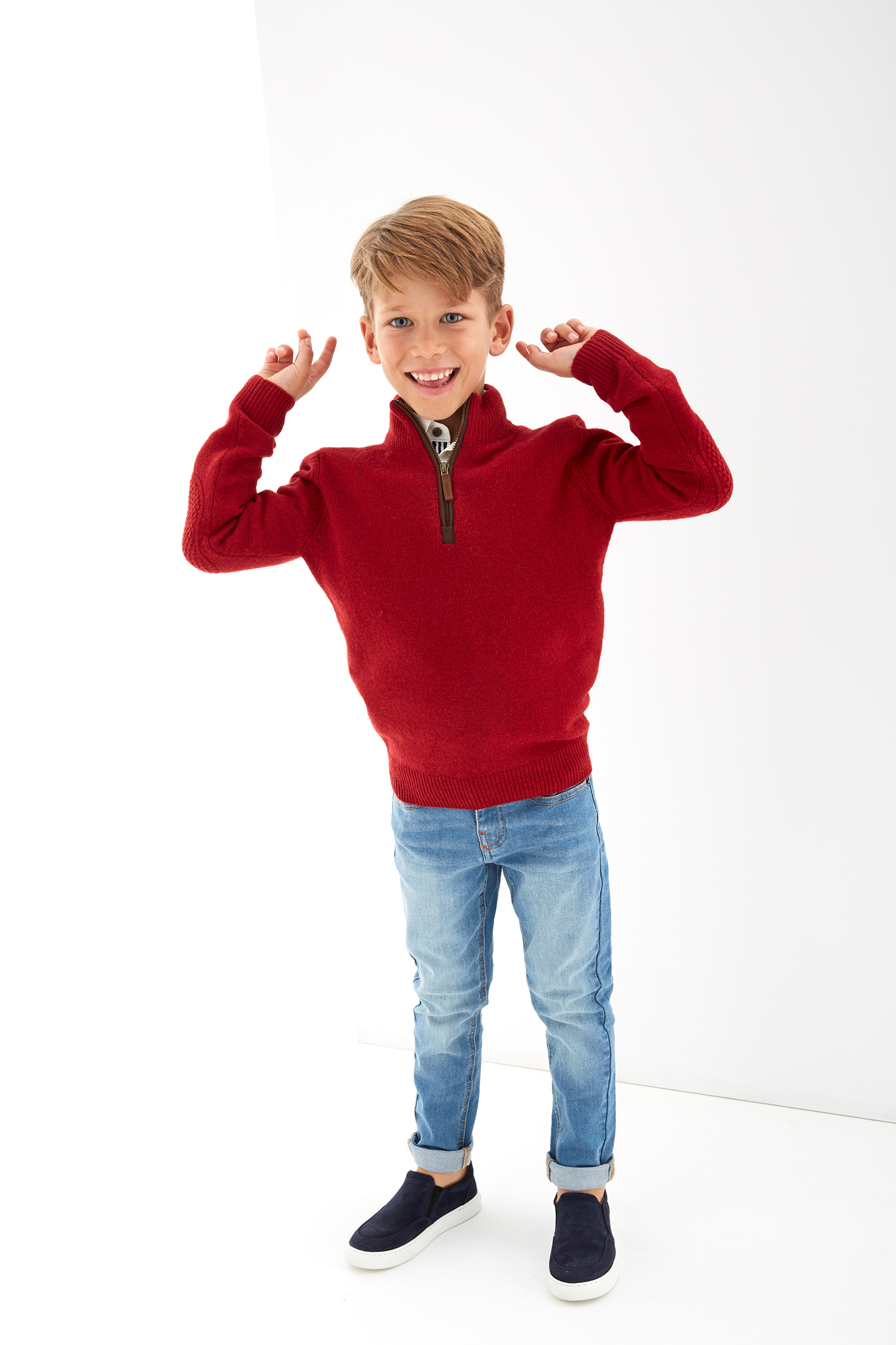 Sweater Red Sport Boy