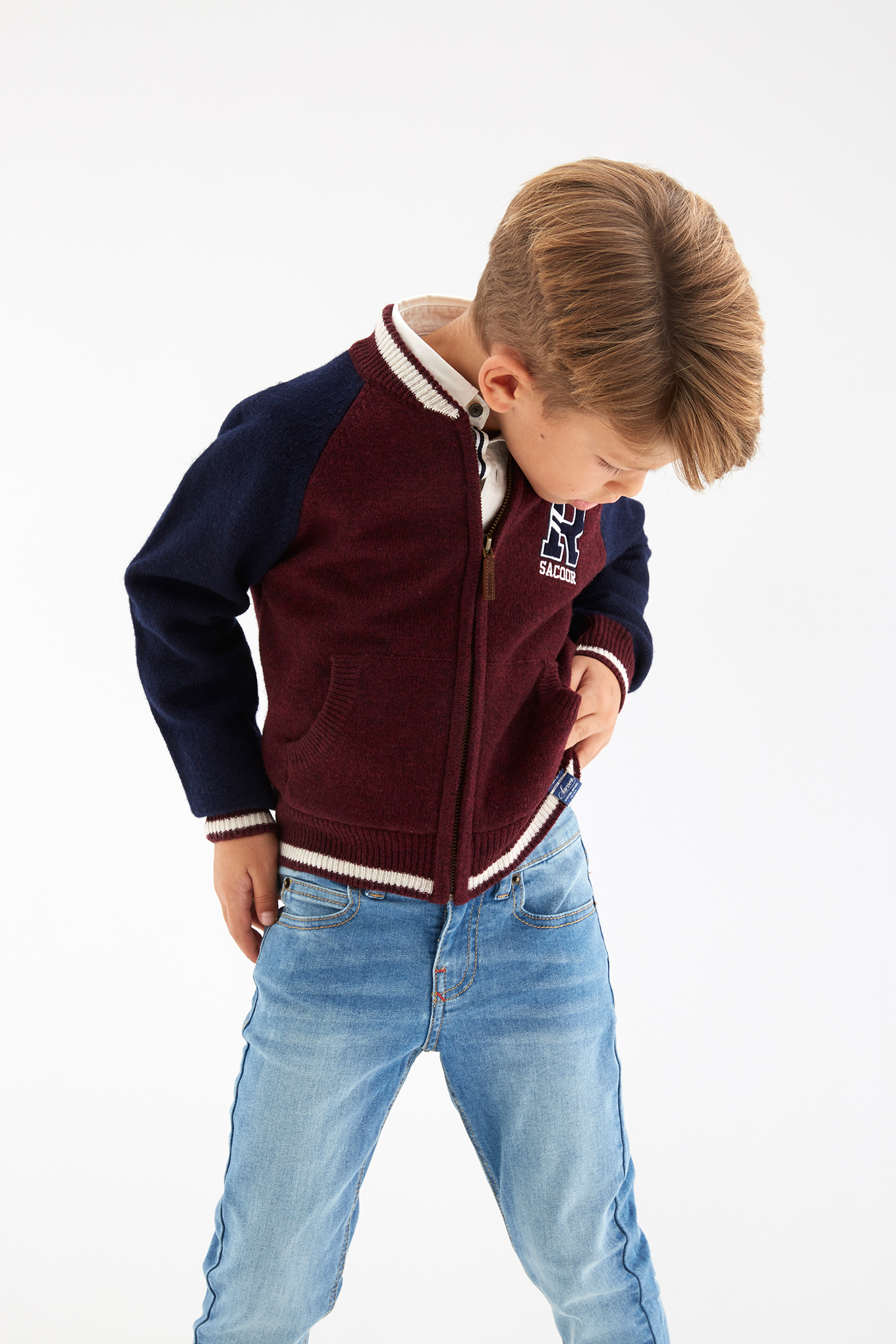 Cardigan Bordeaux Sport Boy