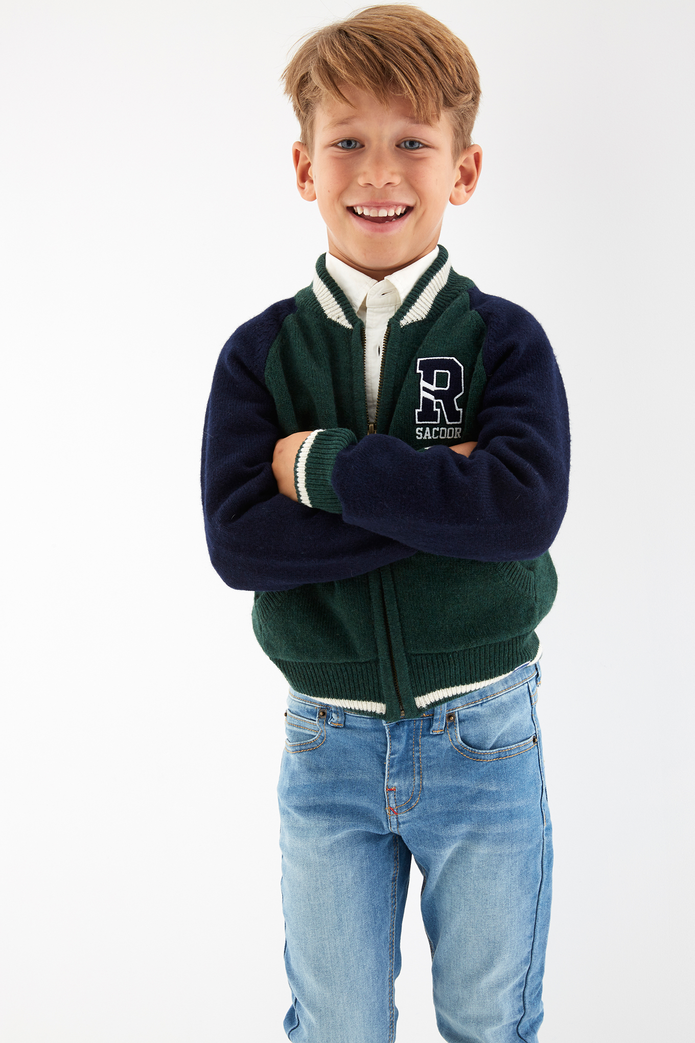 Cardigan Dark Green Sport Boy