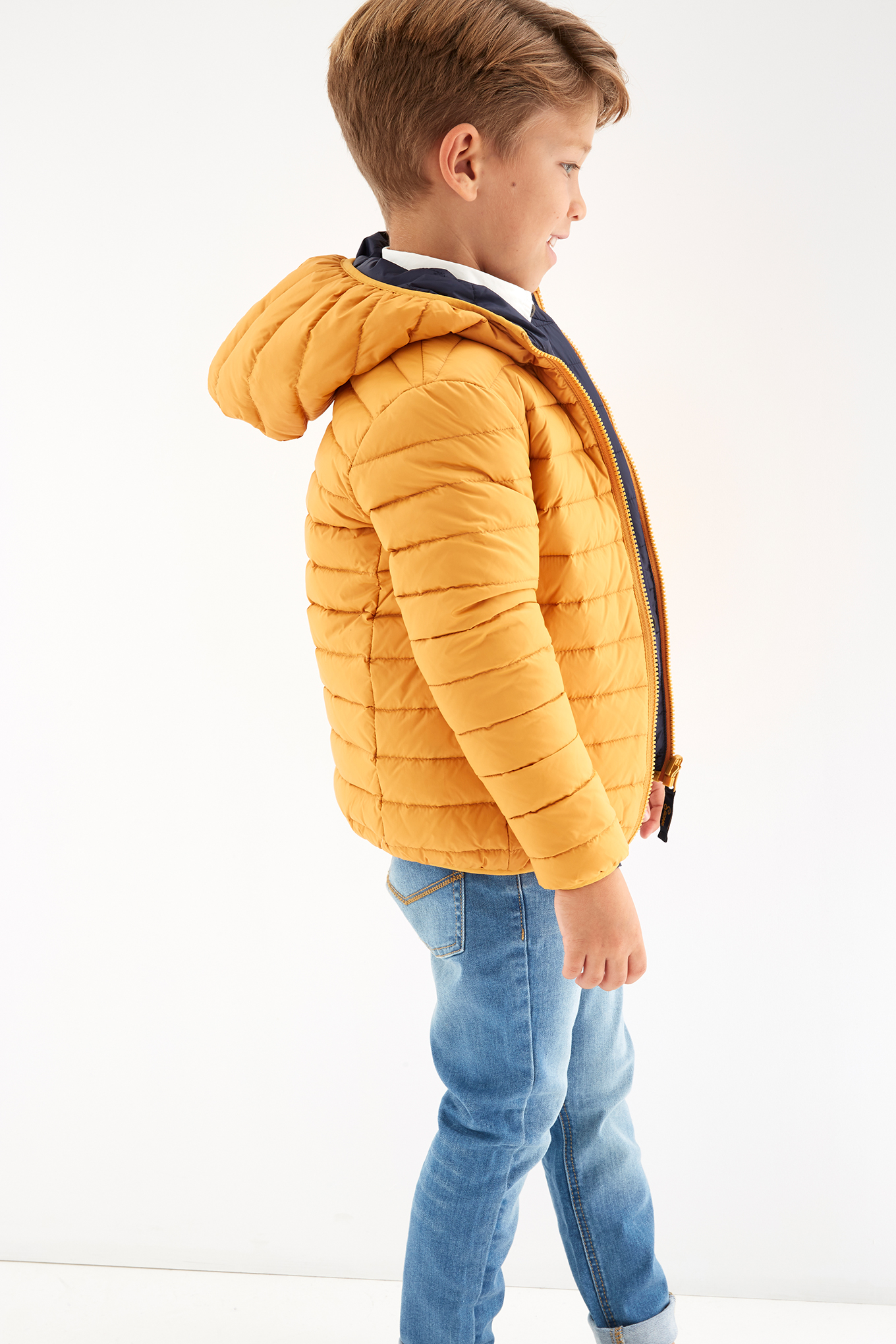 Jacket Yellow Casual Boy