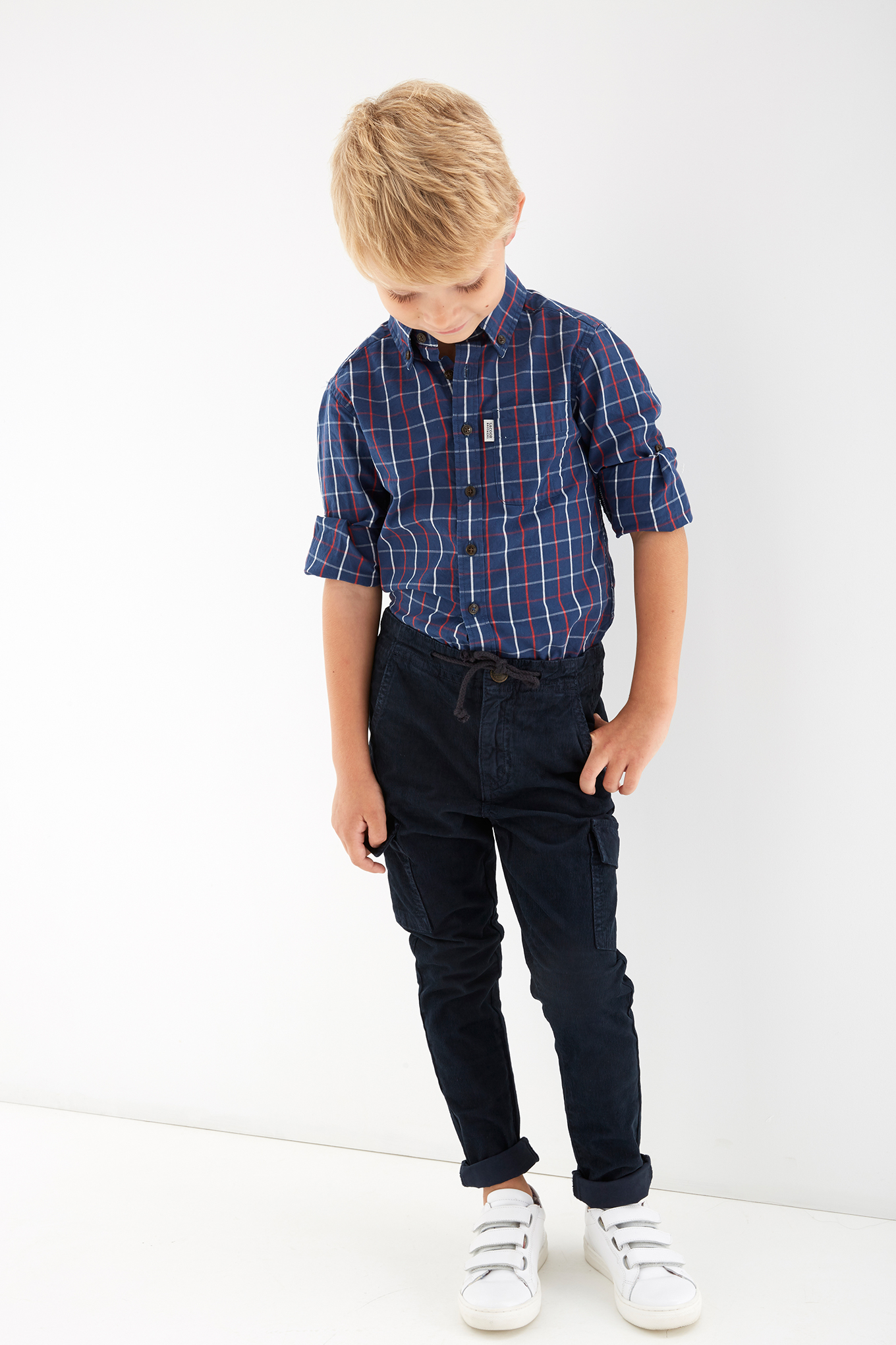 Cargo Trousers Dark Blue Casual Boy