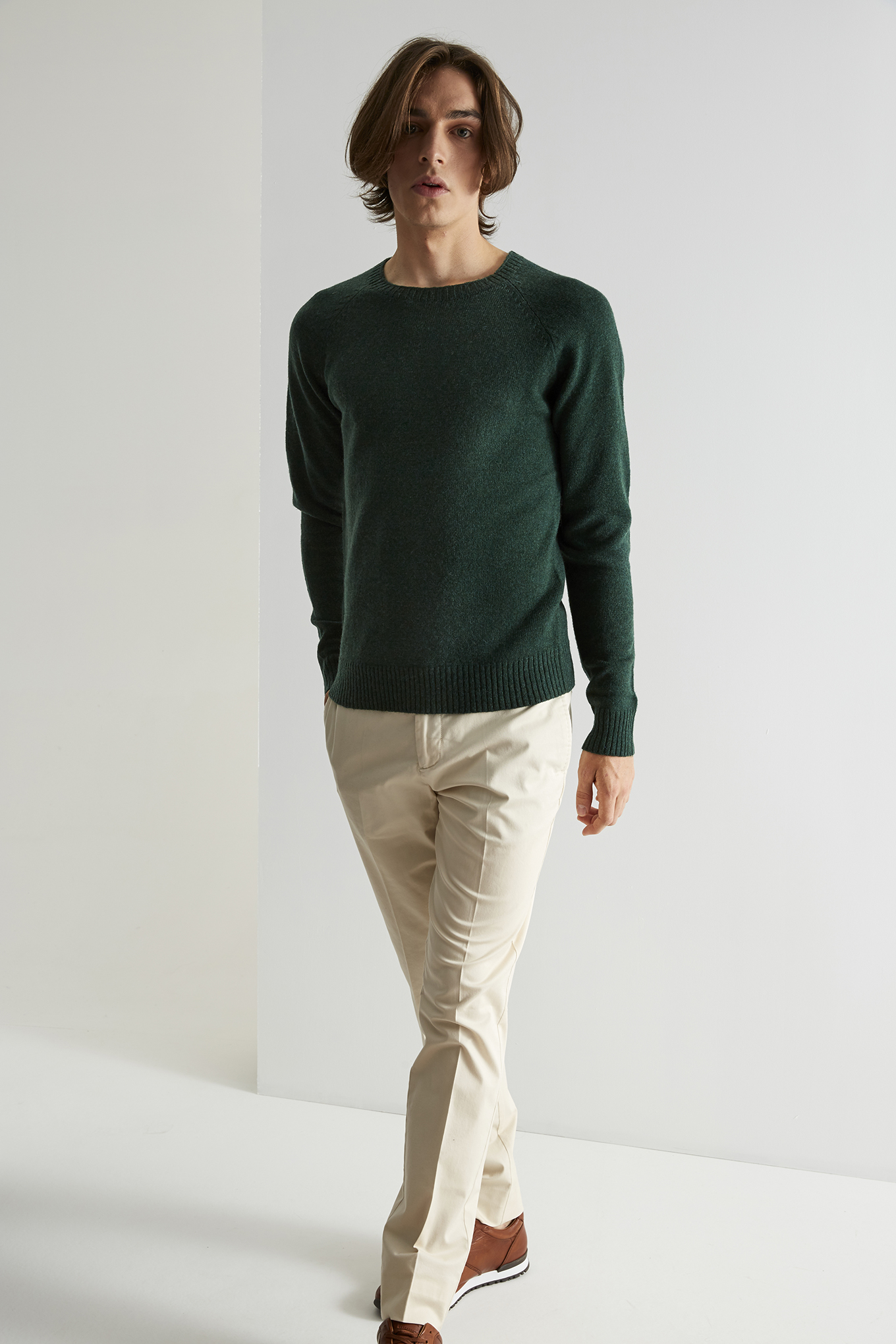 Sweater Dark Green Classic Man