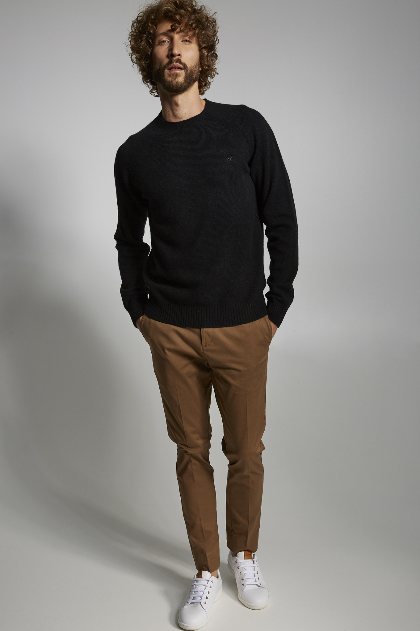 Sweater Black Sport Man