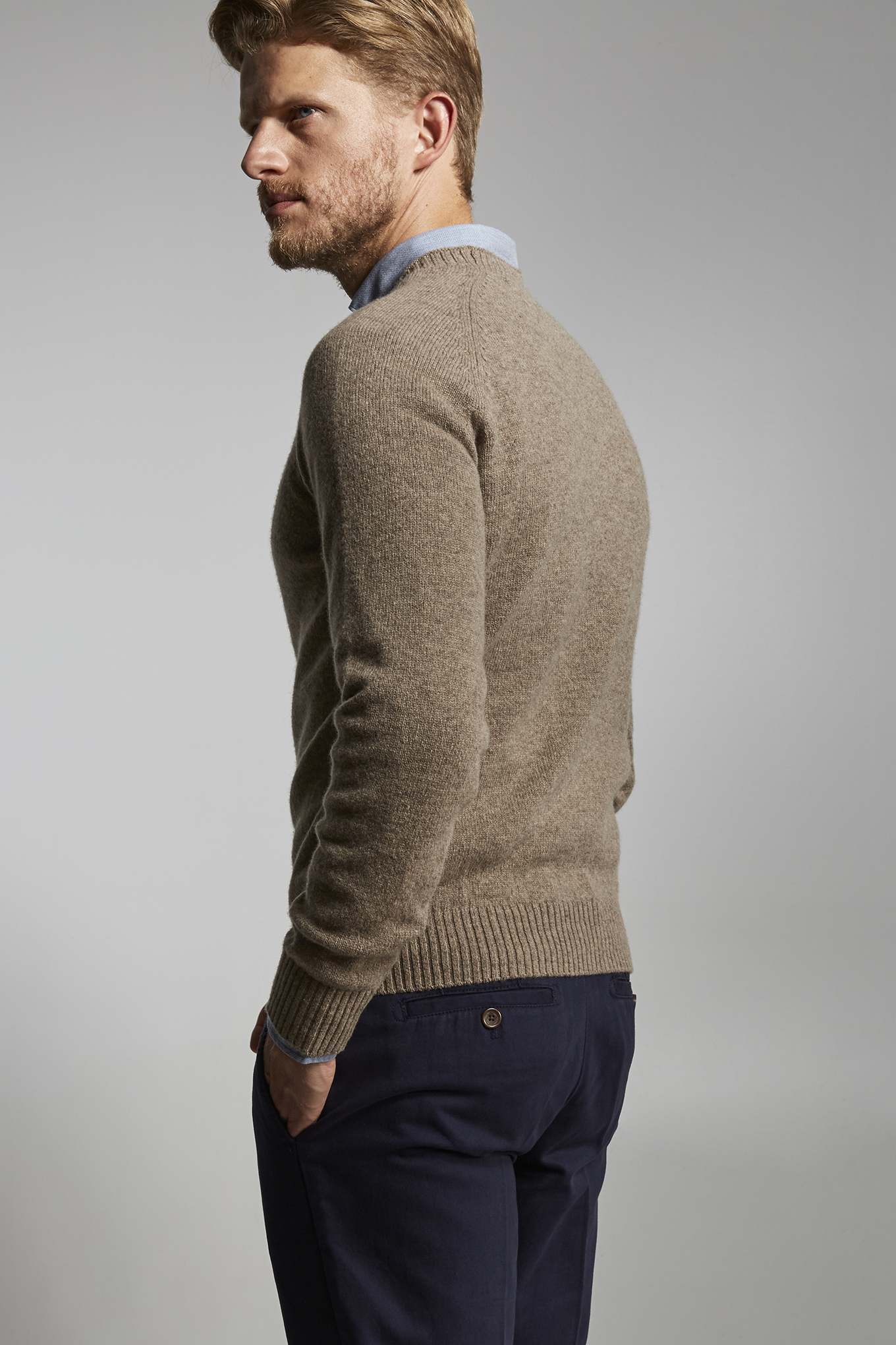 Sweater Dark Beige Sport Man