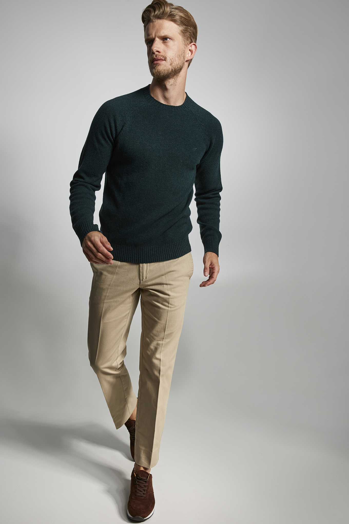 Sweater Dark Green Sport Man