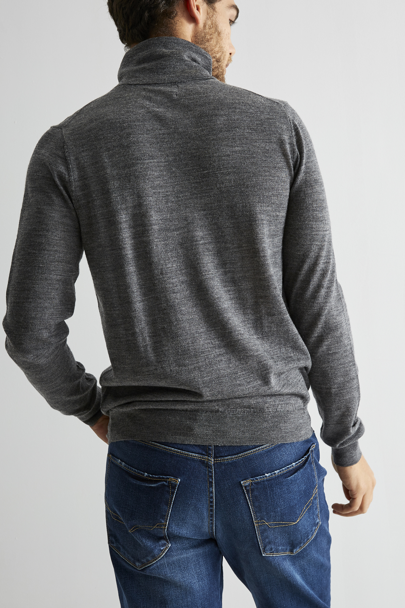 Sweater Dark Grey Casual Man