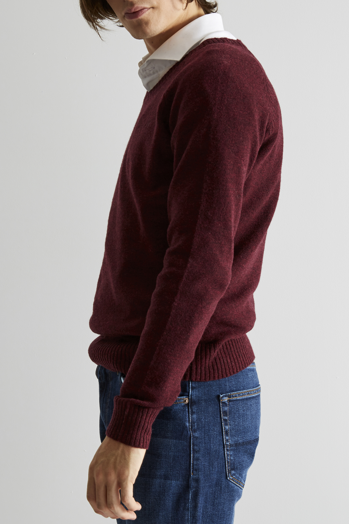 Sweater Bordeaux Casual Man