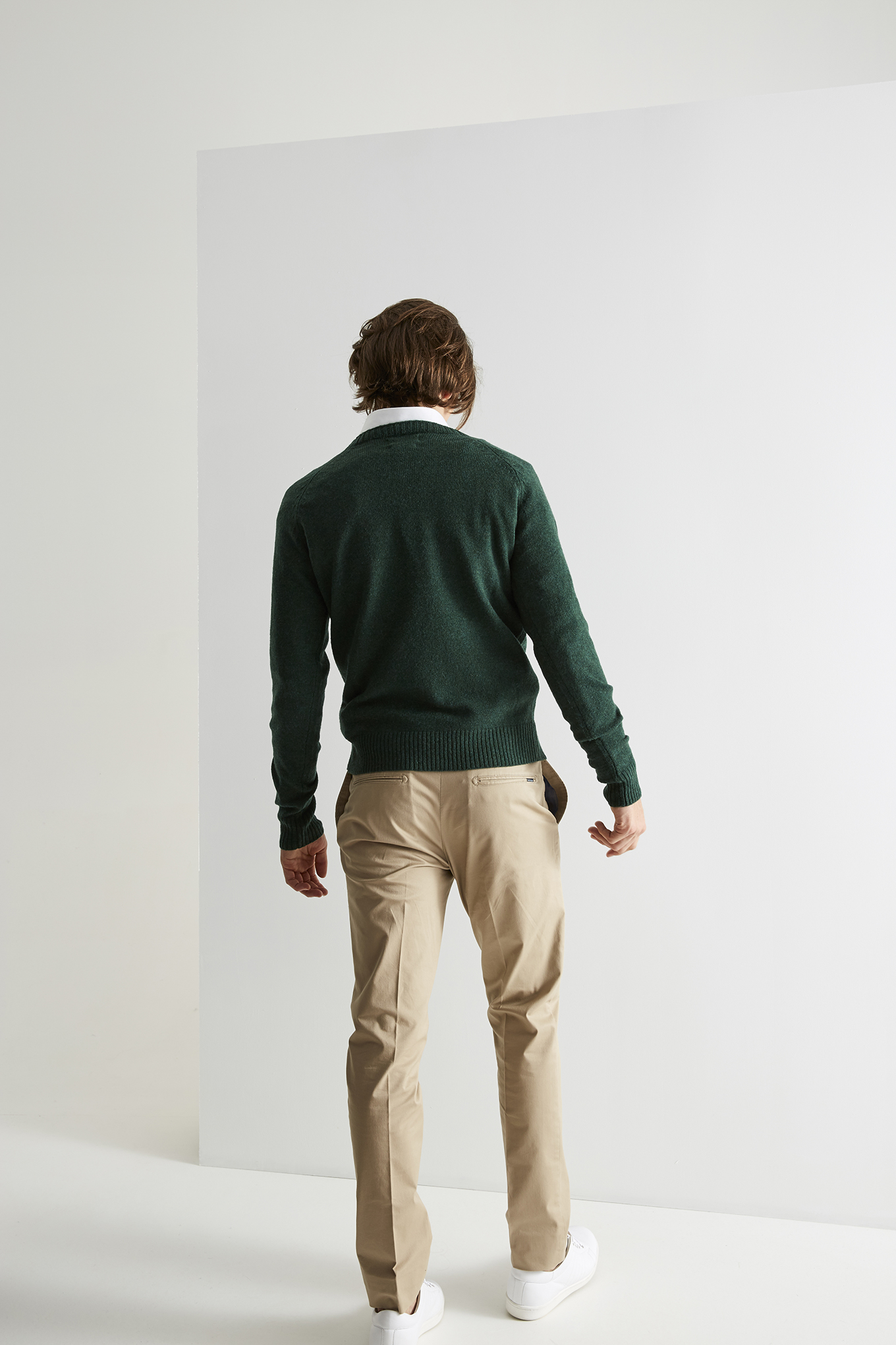 Sweater Dark Green Casual Man
