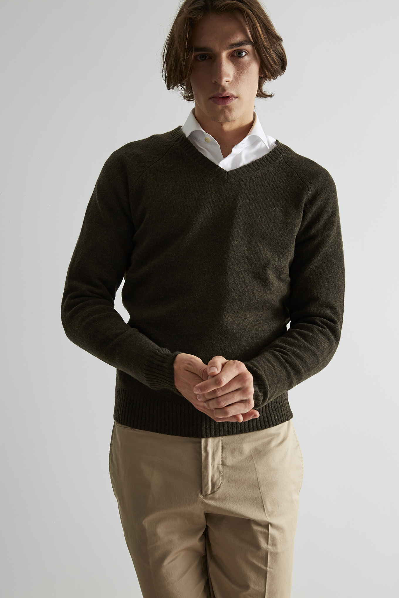 Sweater Khaki Casual Man
