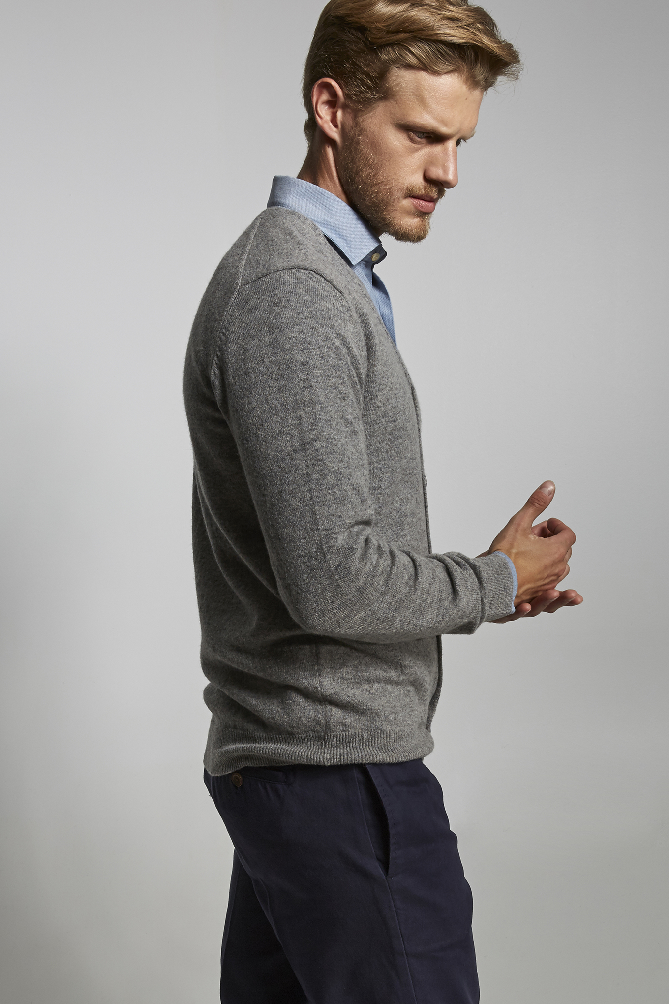 Sweater Mix Grey Sport Man