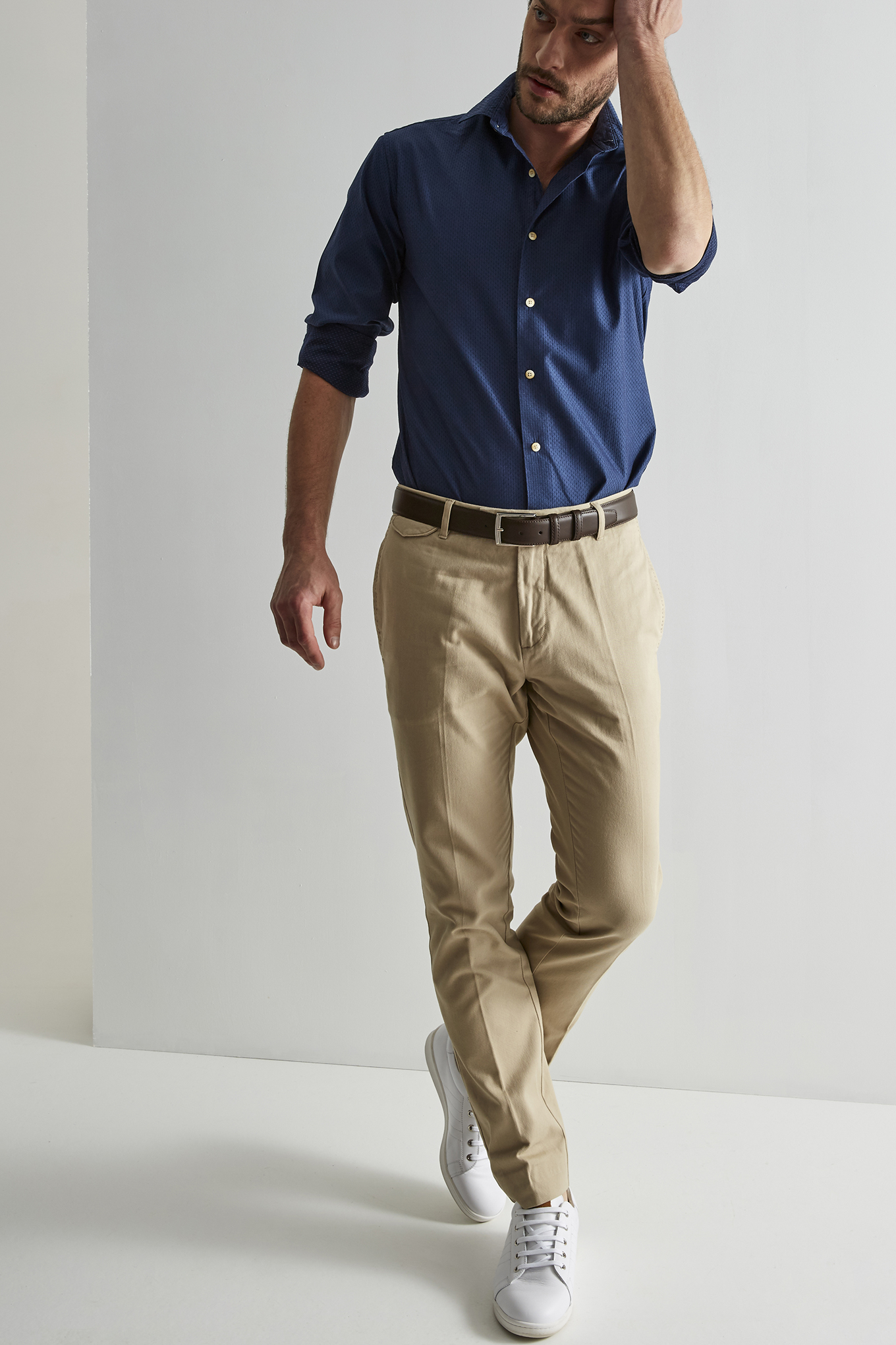 Shirt Blue Casual Man