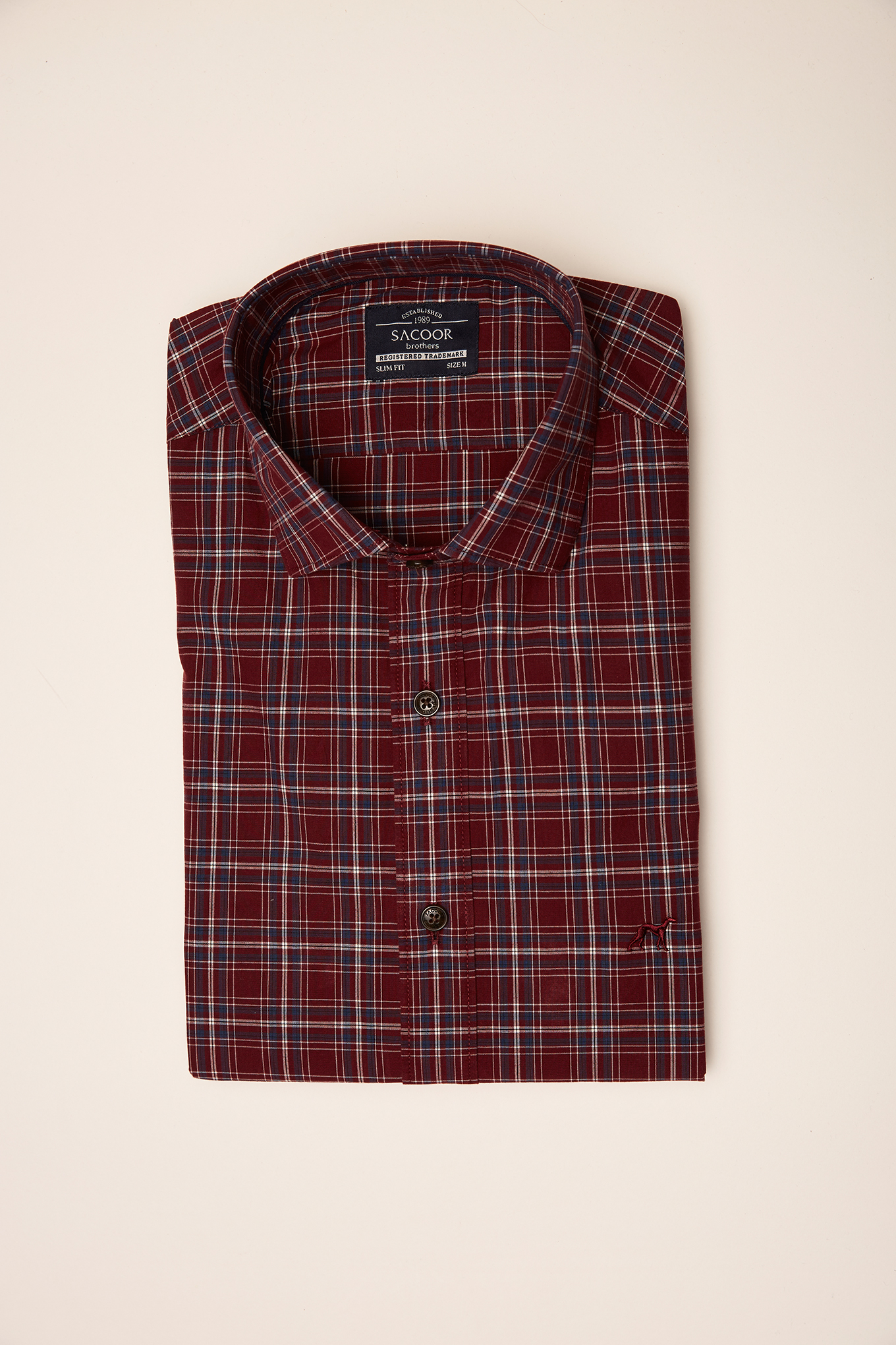 Shirt Dark Red Sport Man