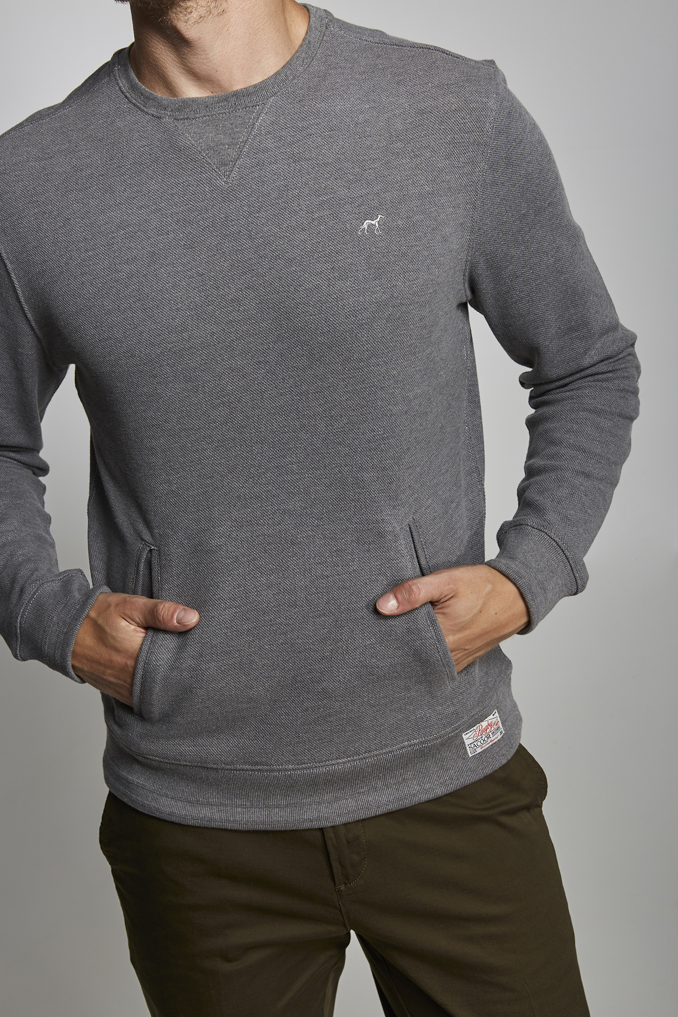 Sweatshirt Dark Grey Sport Man