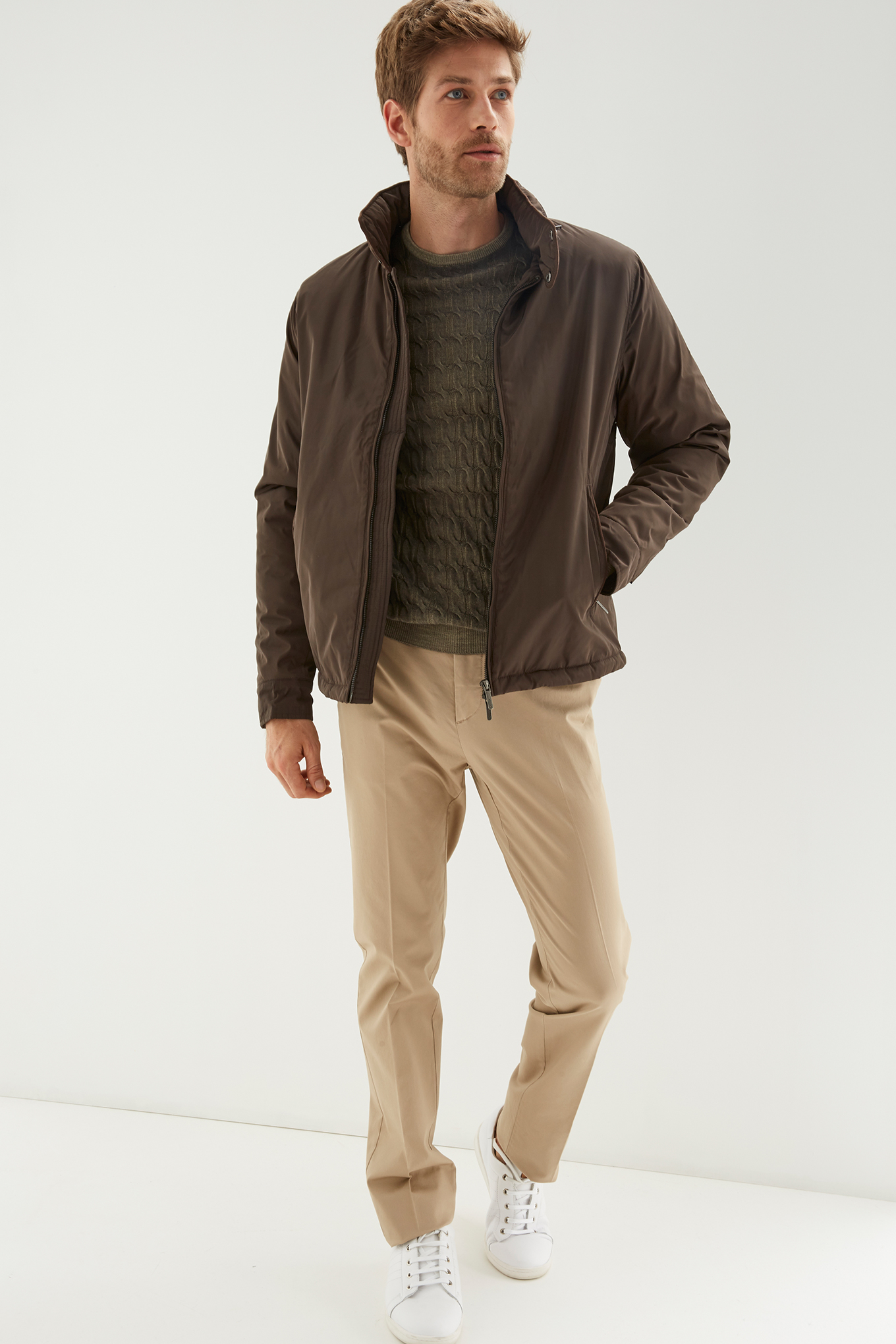Jacket Chocolate Casual Man