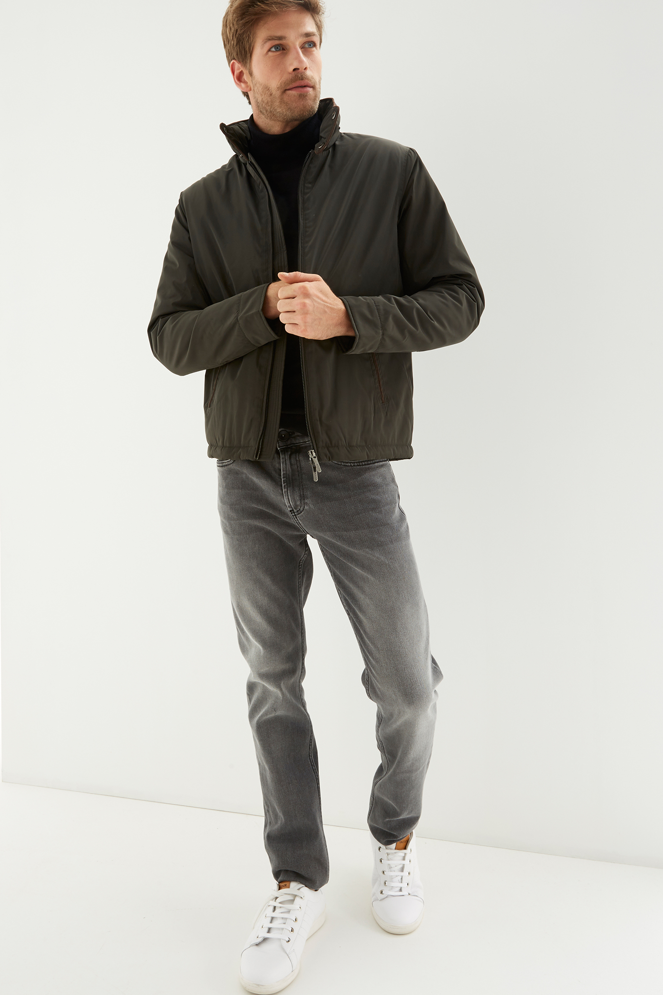 Jacket Khaki Casual Man