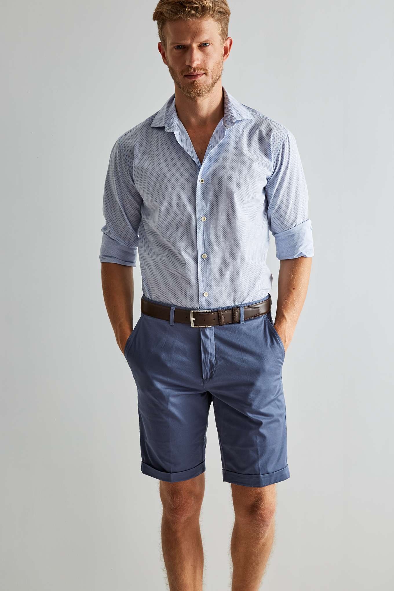 Bermuda Blue Casual Man