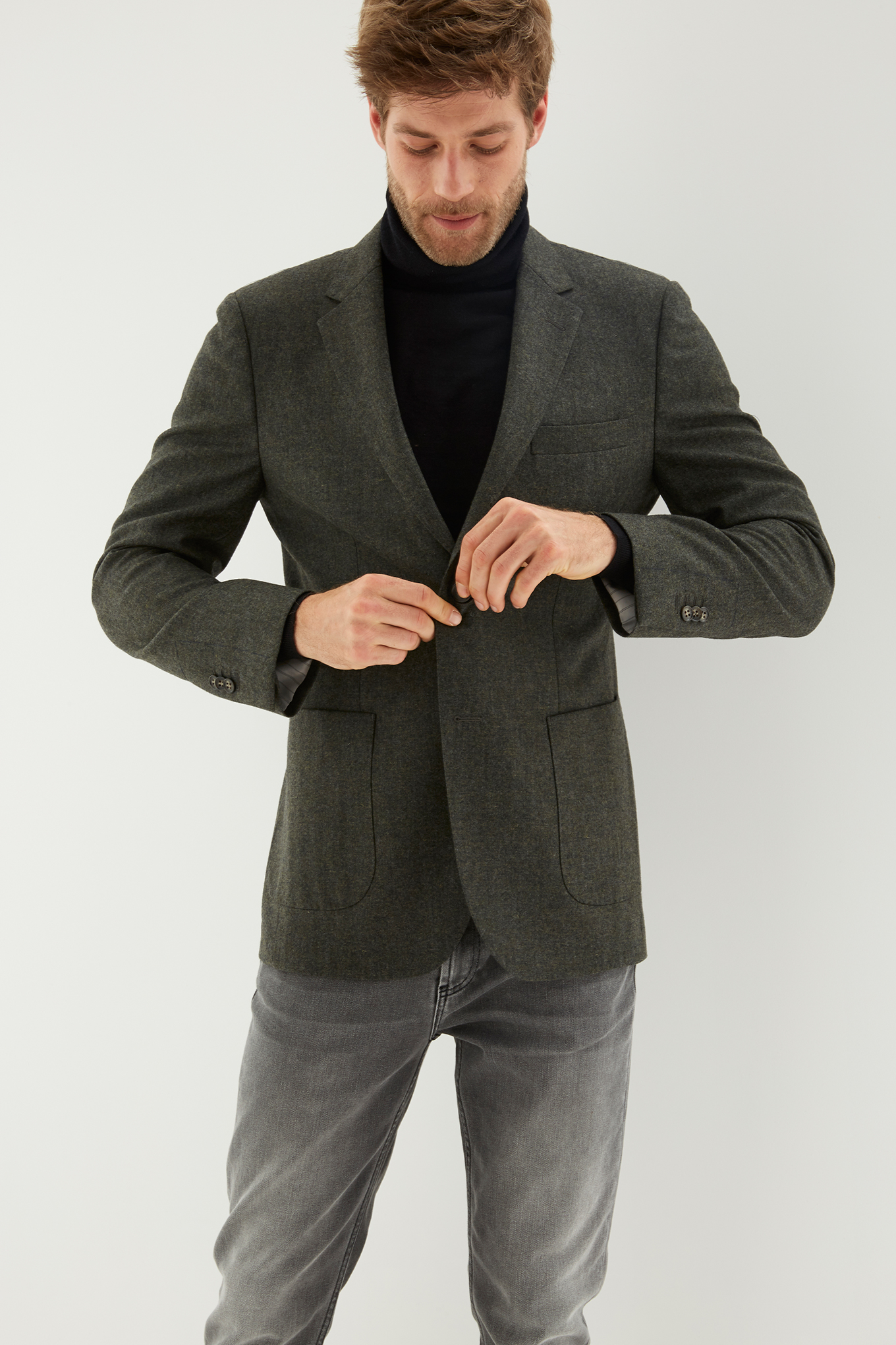 Blazer Dark Green Classic Man