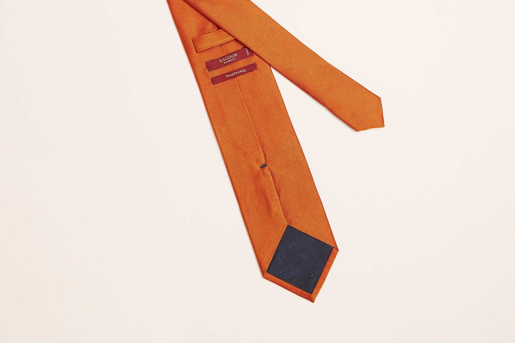 Tie Orange Classic Man