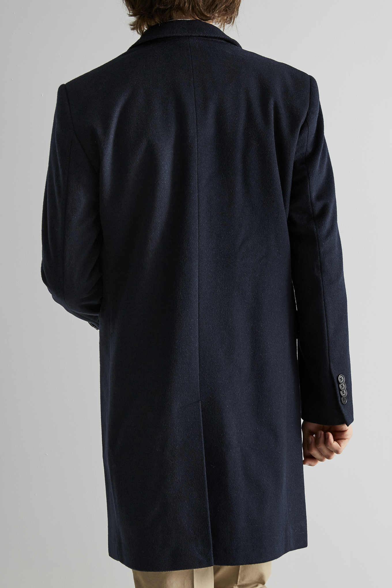 Overcoat Dark Blue Classic Man