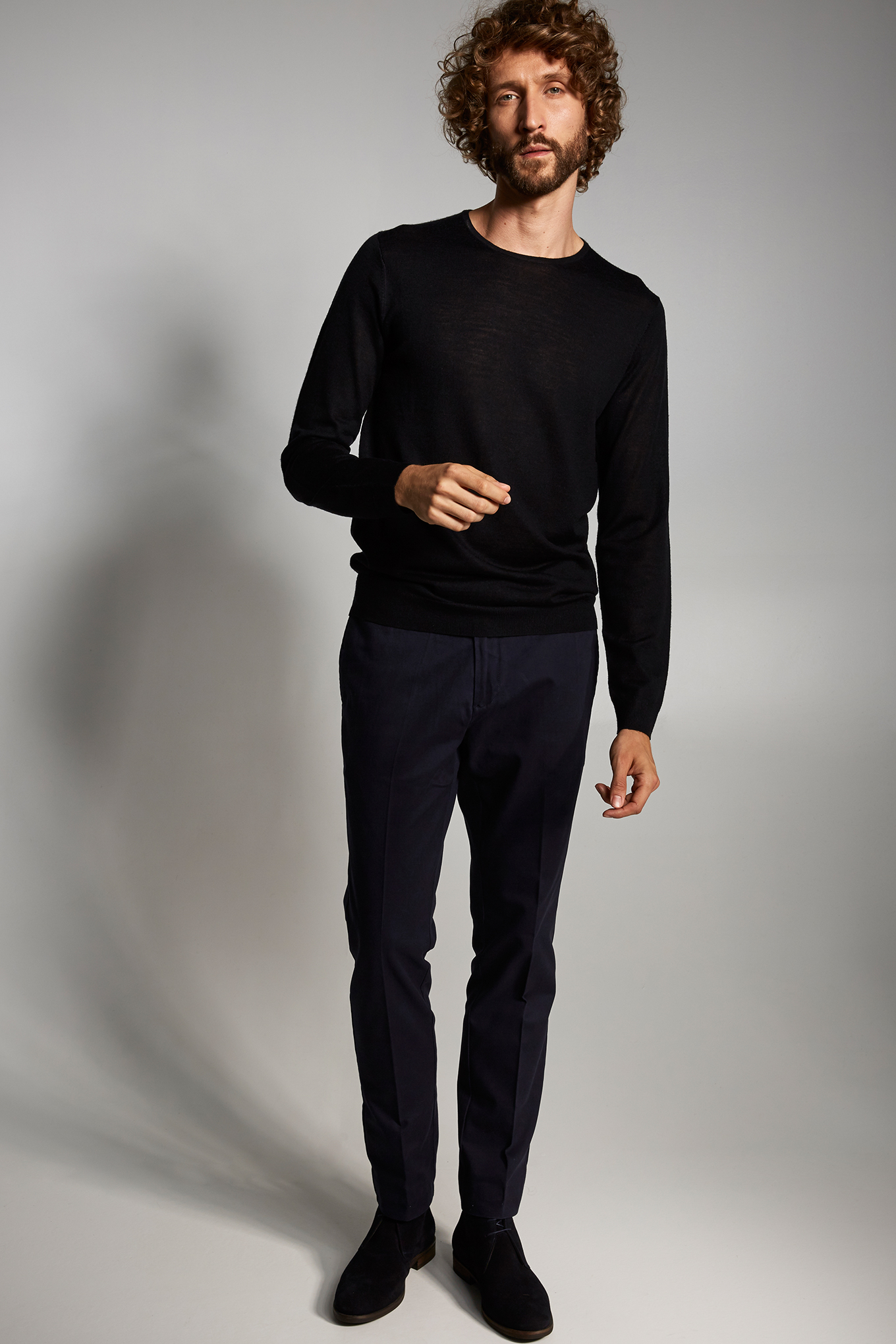 Chino Trousers Dark Blue Casual Man