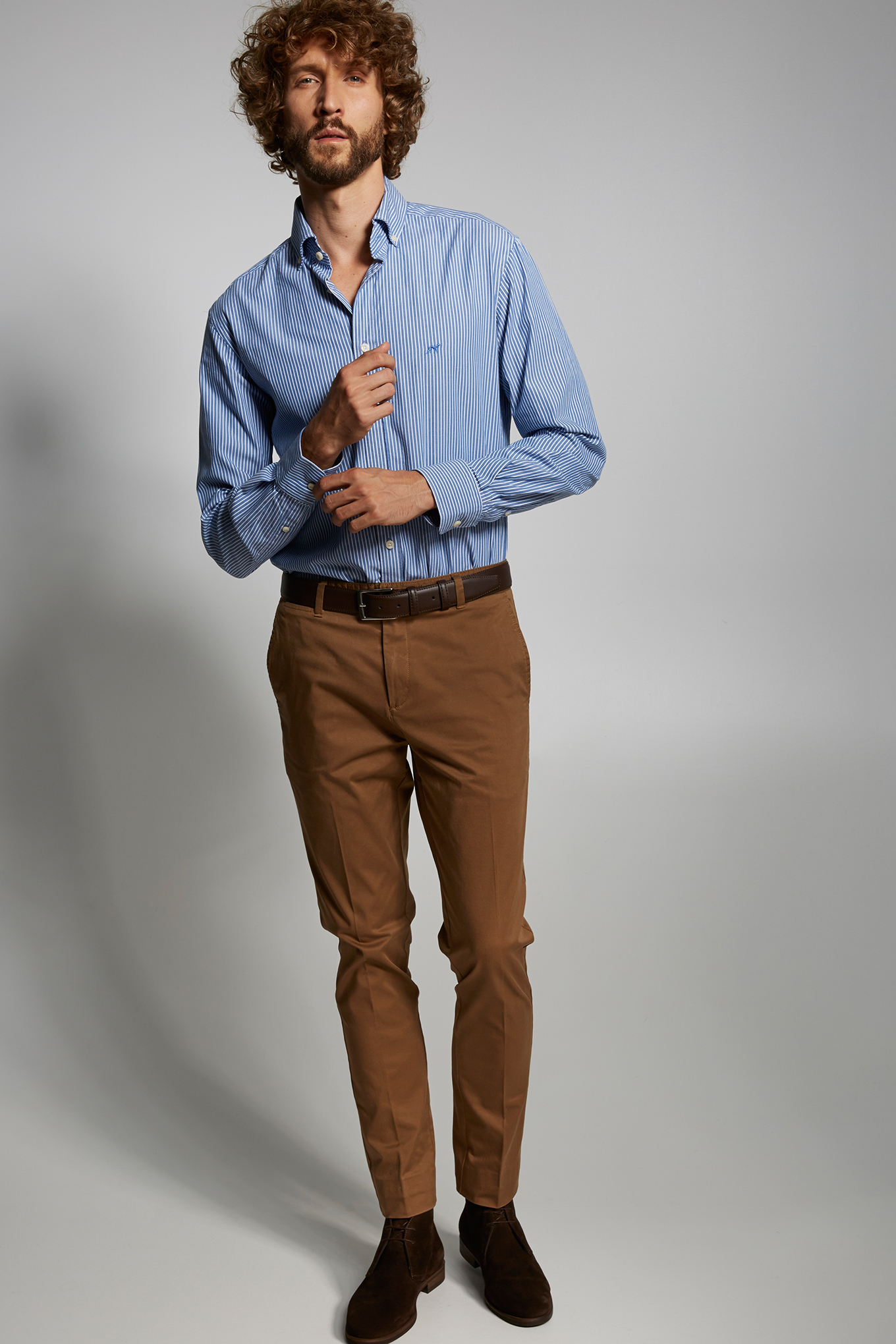 Chino Trousers Camel Casual Man