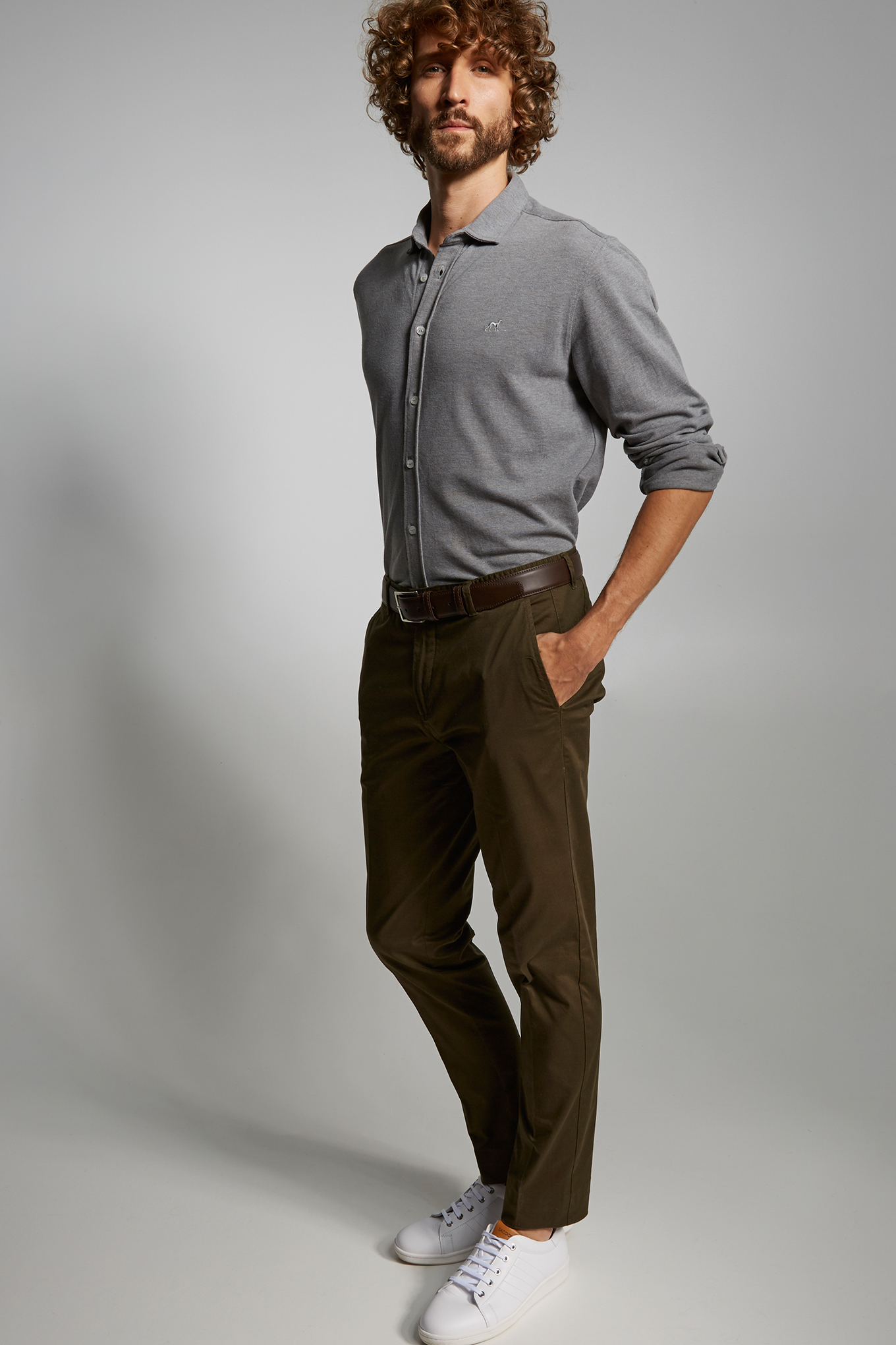 Chino Trousers Khaki Casual Man