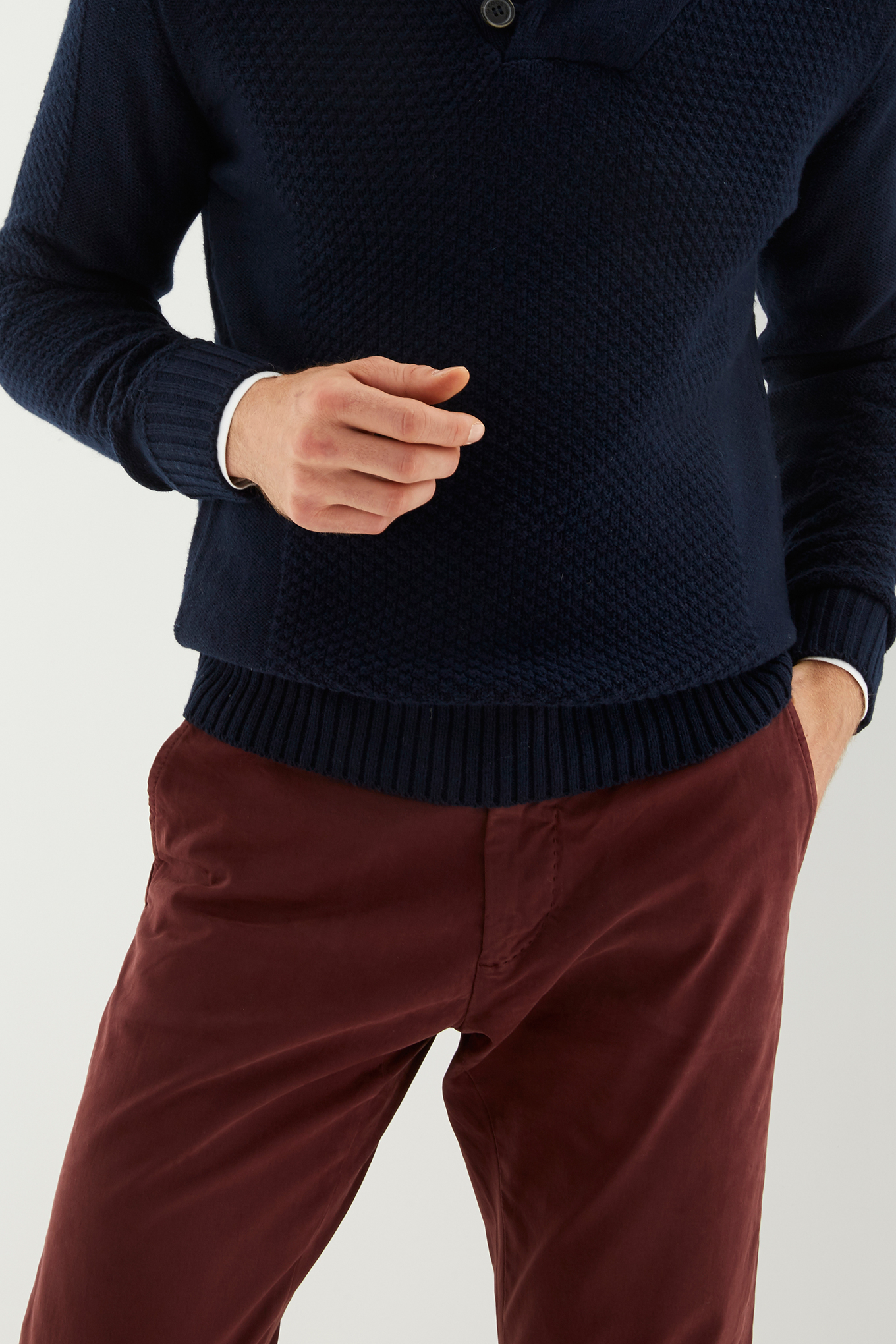 Chino Trousers Bordeaux Casual Man