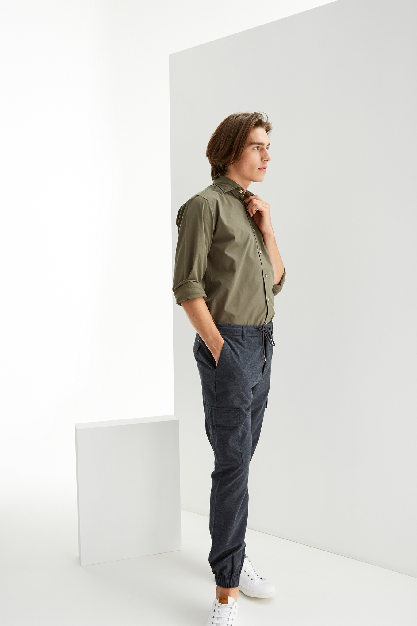 Cargo Trousers Blue Casual Man