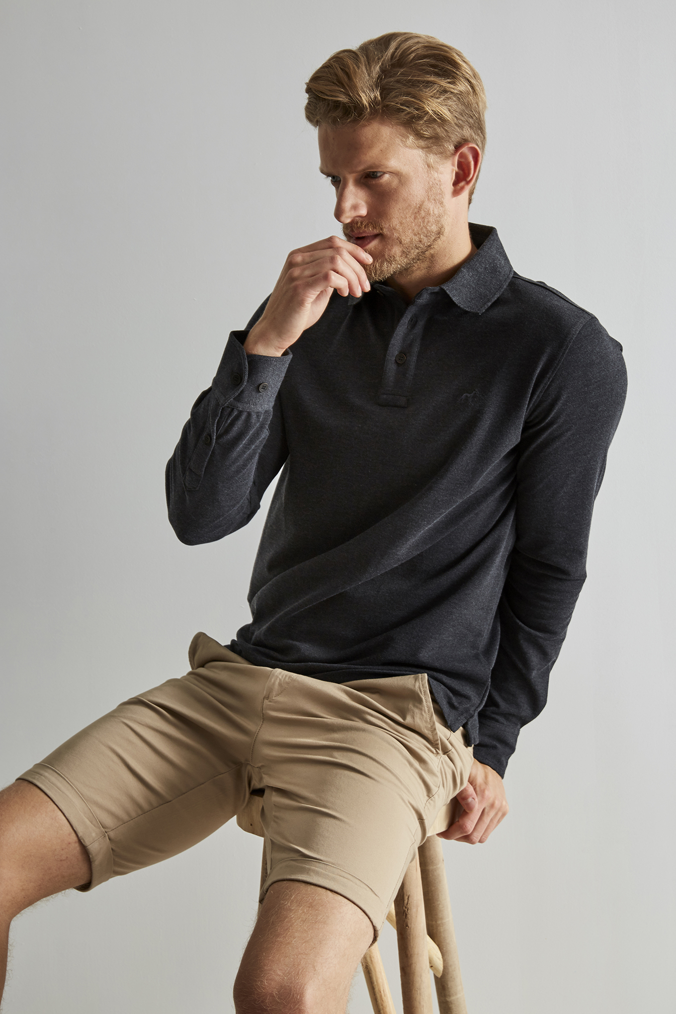 Polo Piquet Anthracite Casual Man