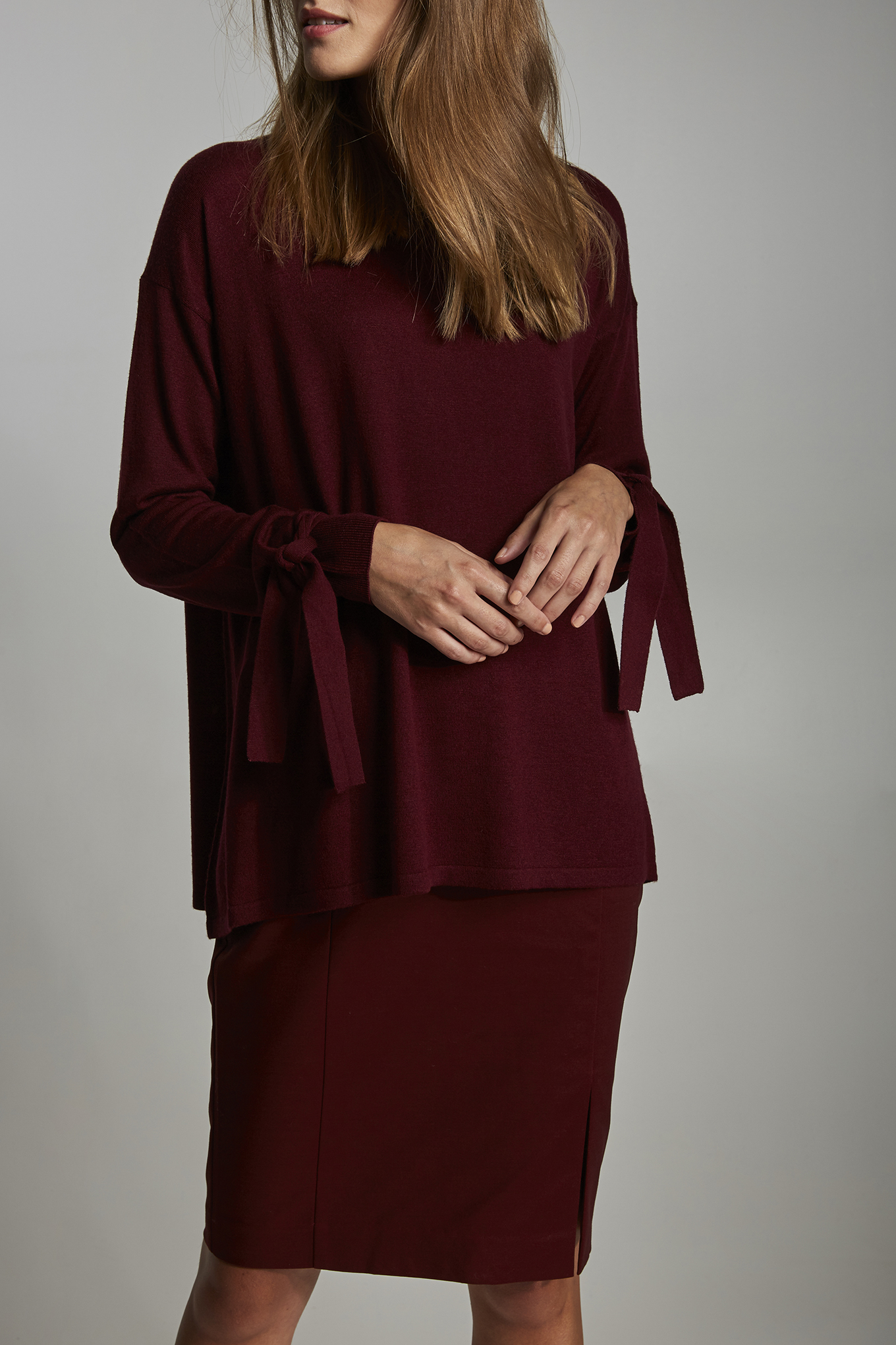 Sweater Bordeaux Casual Woman