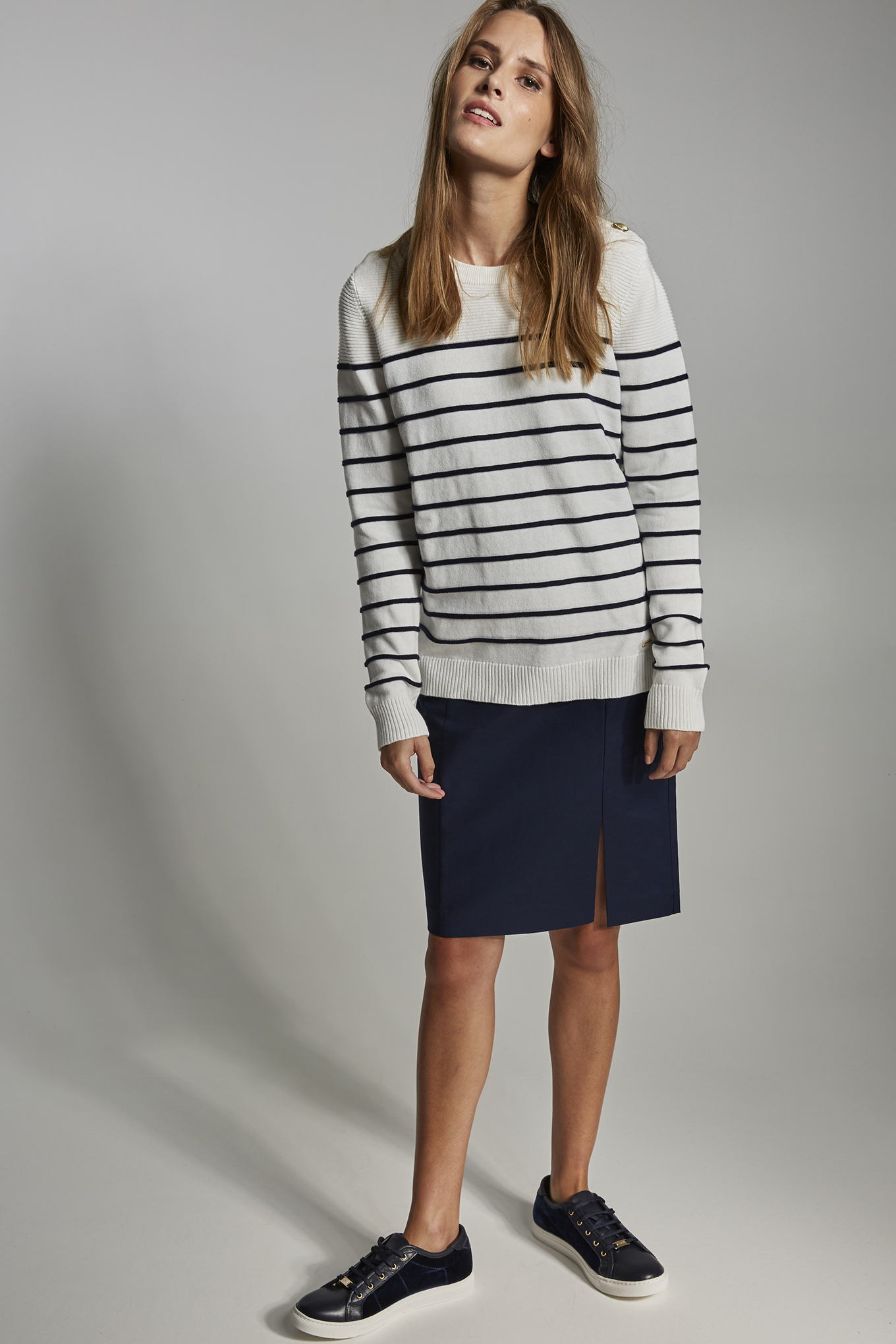 Sweater Ecru Casual Woman