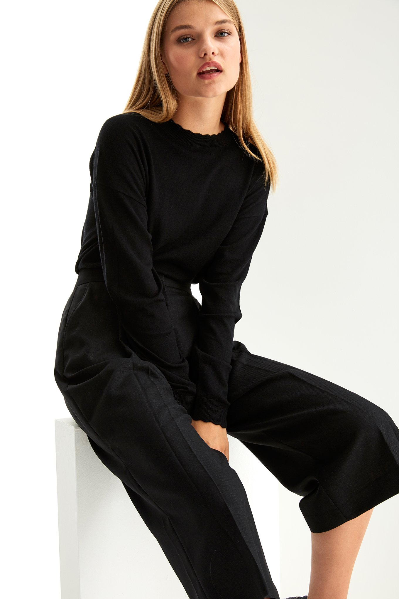 Trousers Black Classic Woman
