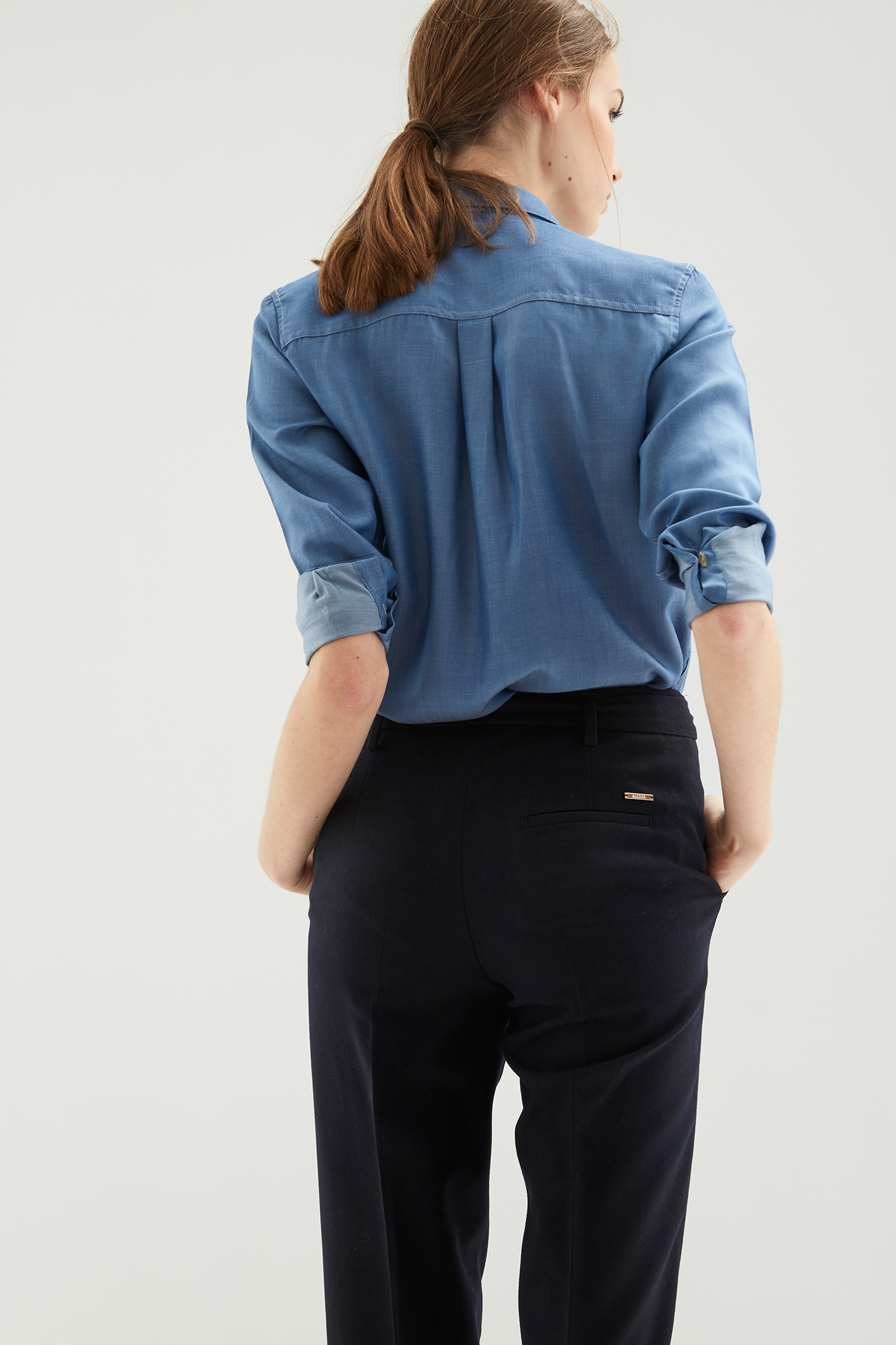 Trousers Dark Blue Classic Woman