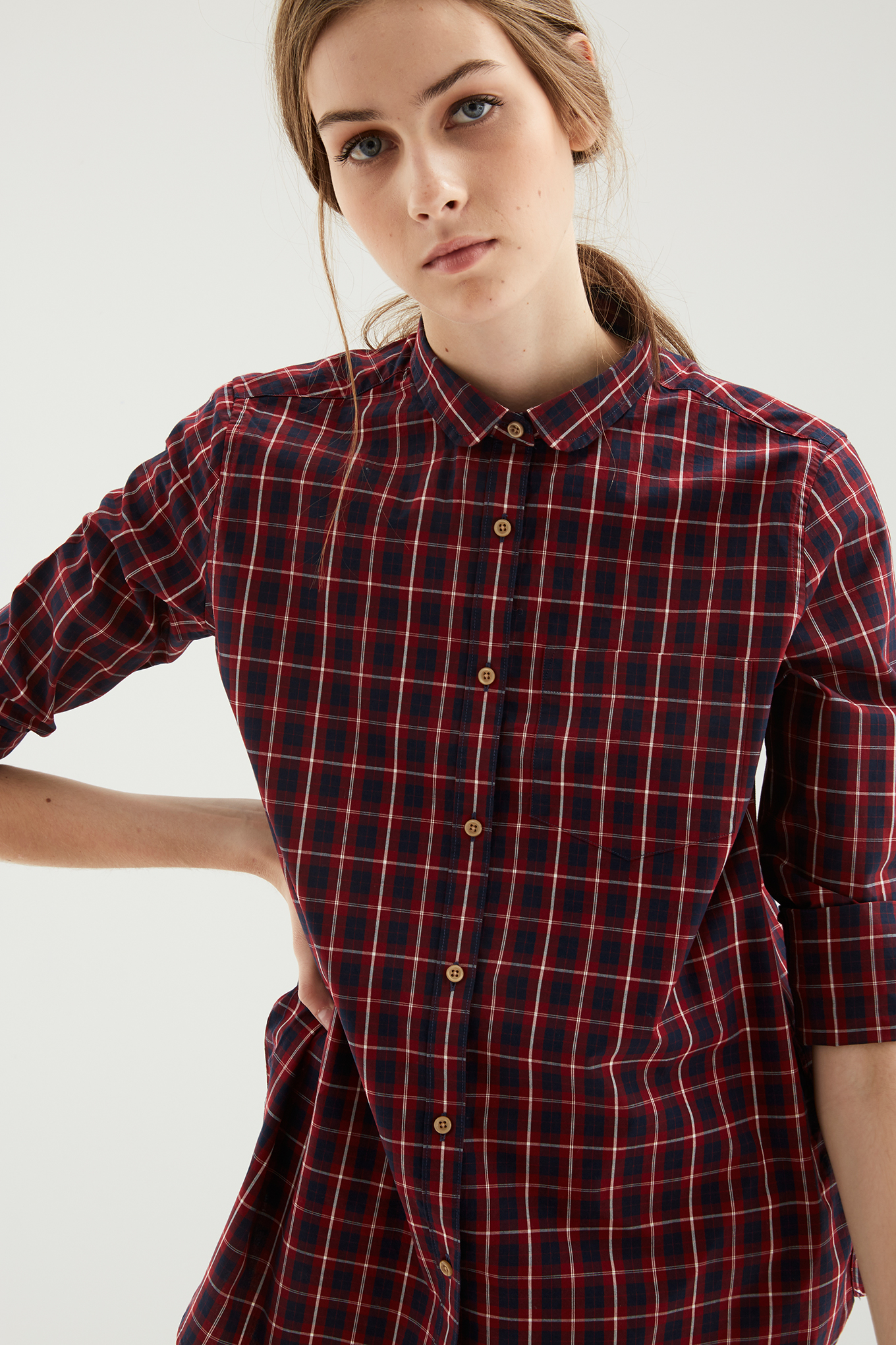 Shirt Dark Blue Casual Woman