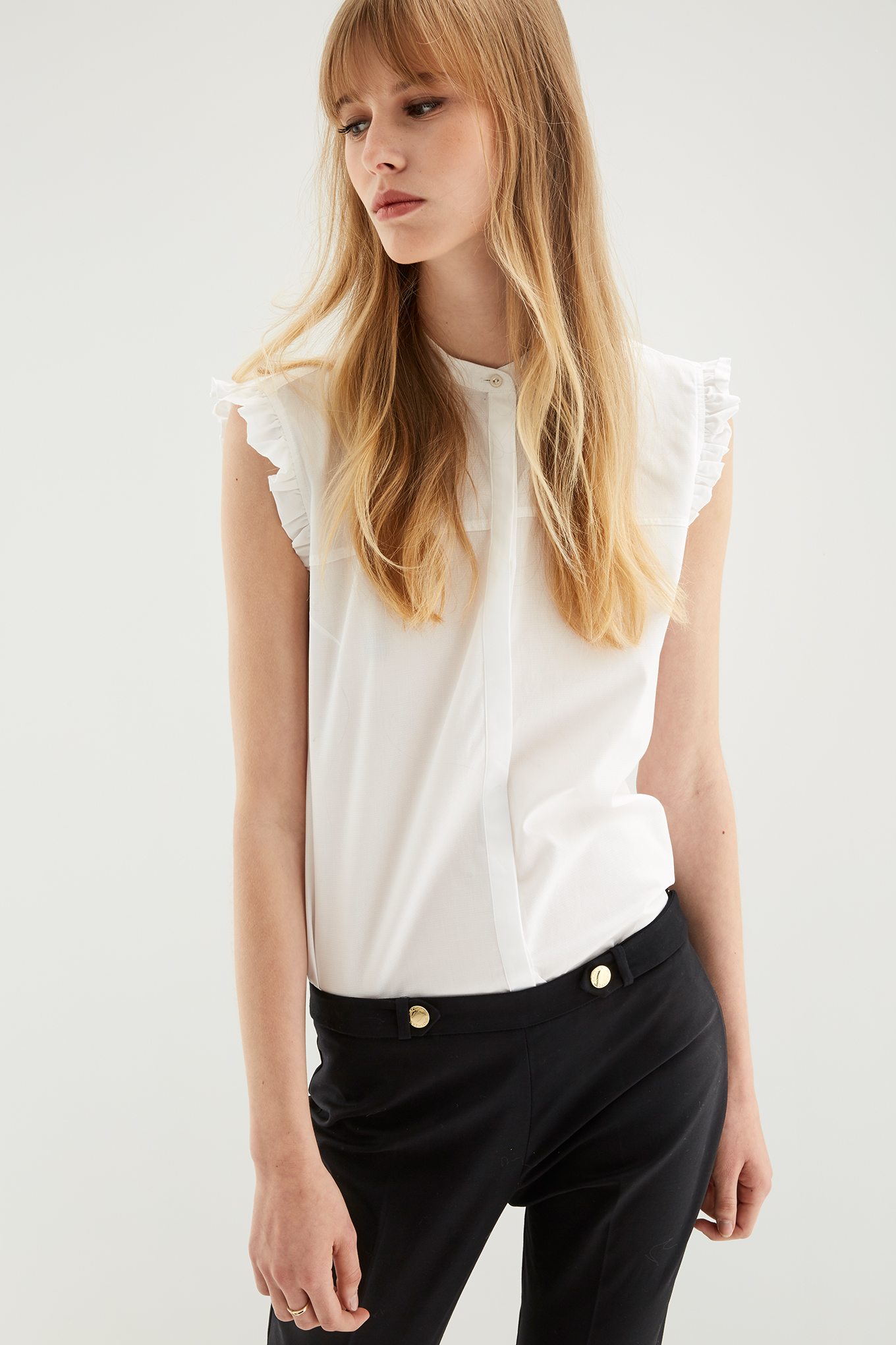 Shirt White Casual Woman