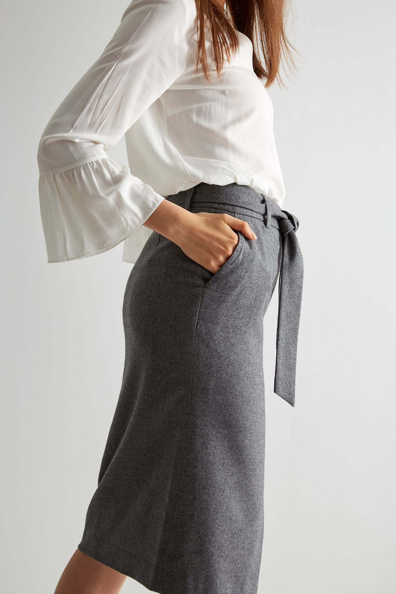 Skirt Mix Grey Classic Woman