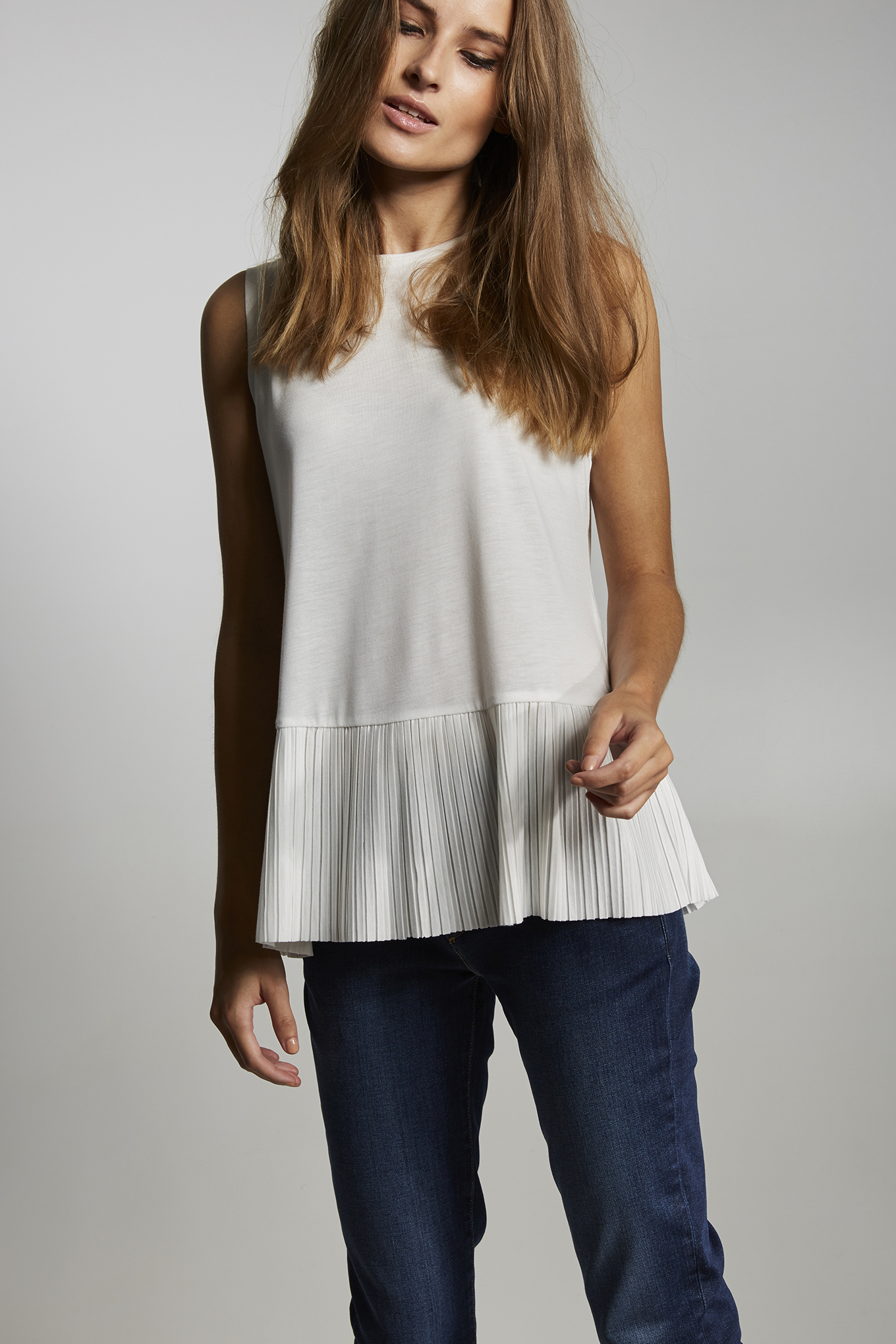 T-Shirt Branco Casual Mulher