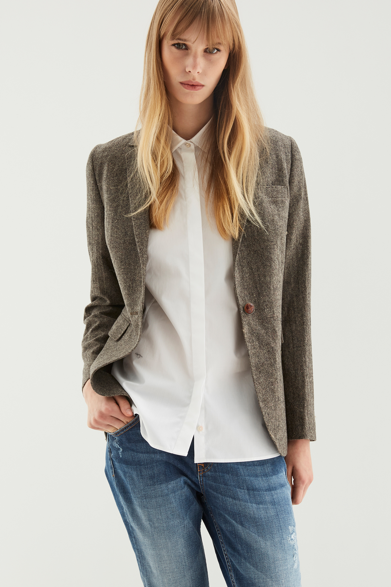 Blazer Brown Classic Woman