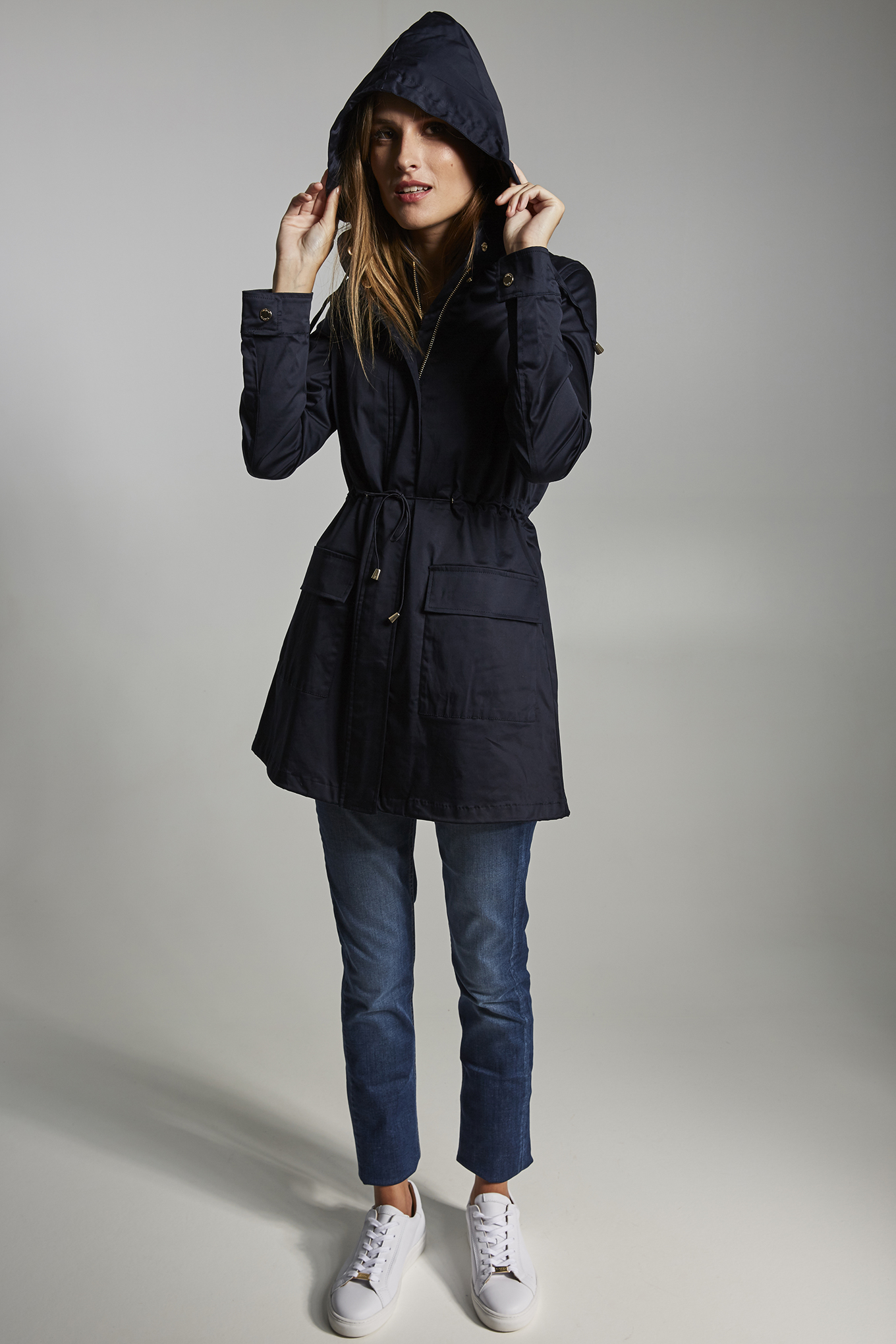 Parka Dark Blue Casual Woman
