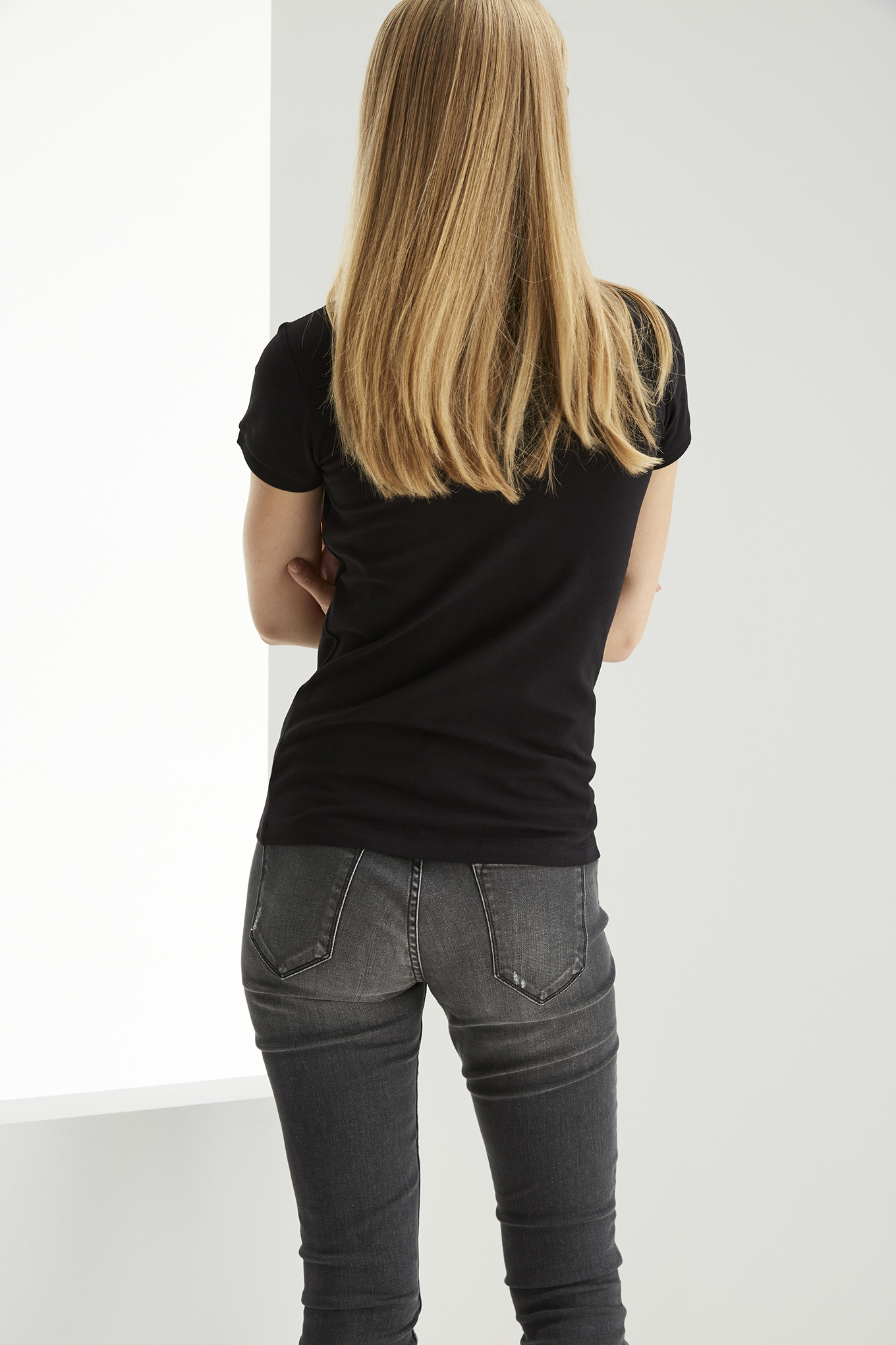 Polo Piquet Black Casual Woman