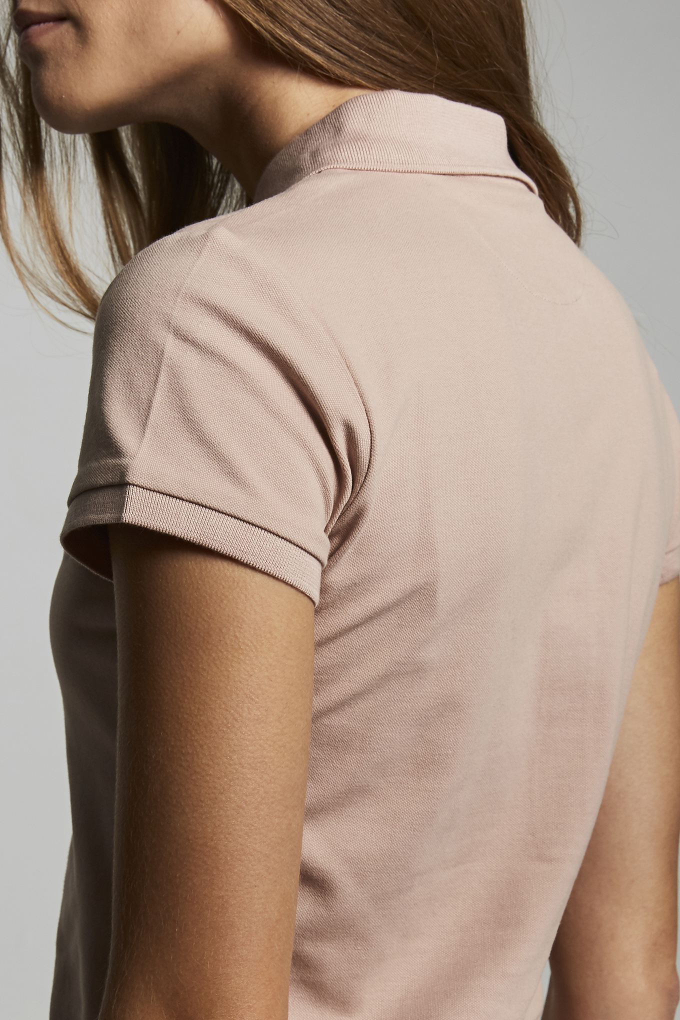 Polo Piquet Pale Pink Casual Woman