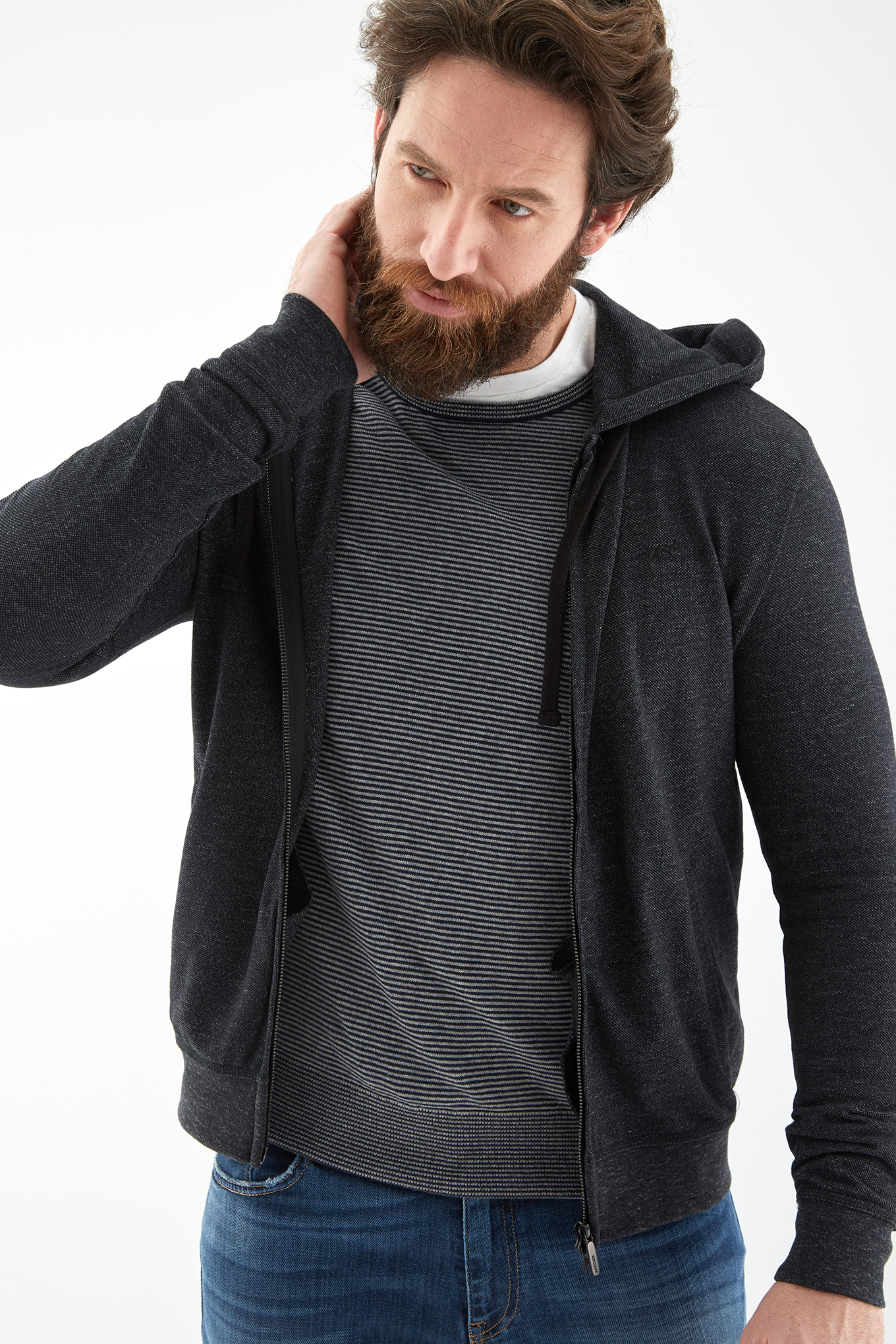 Sweatshirt Black Sport Man
