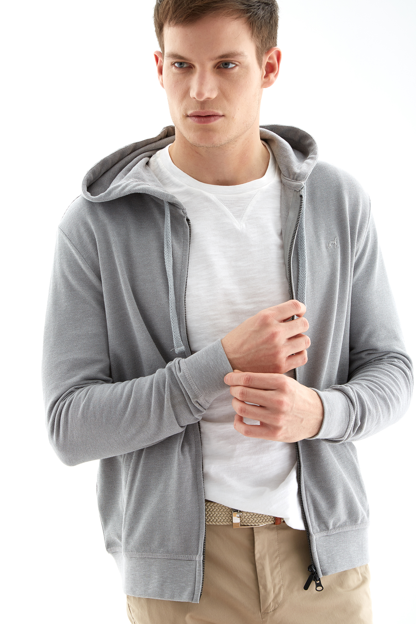 Sweatshirt Mix Grey Sport Man