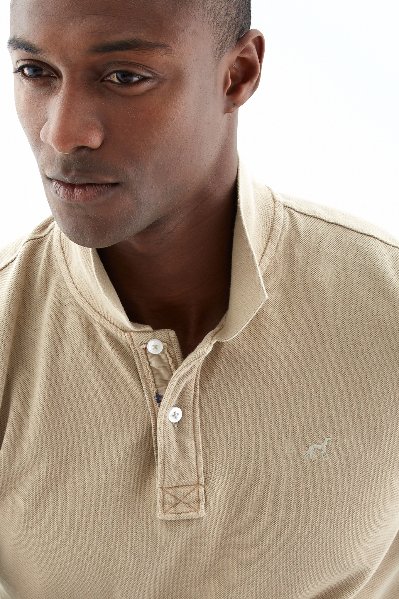 Polo Piquet Beige Sport Man