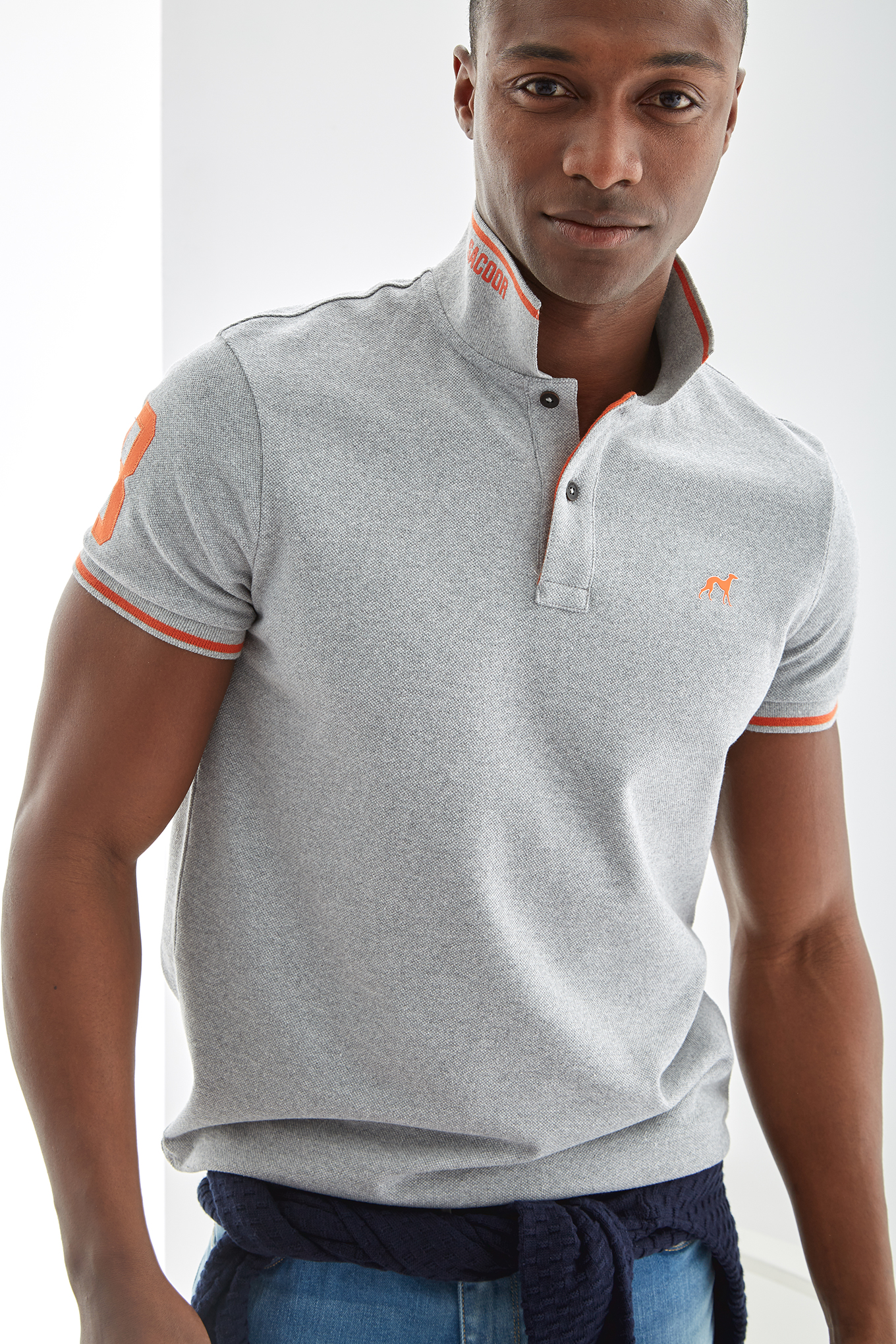 Polo Piquet Mix Grey Sport Man