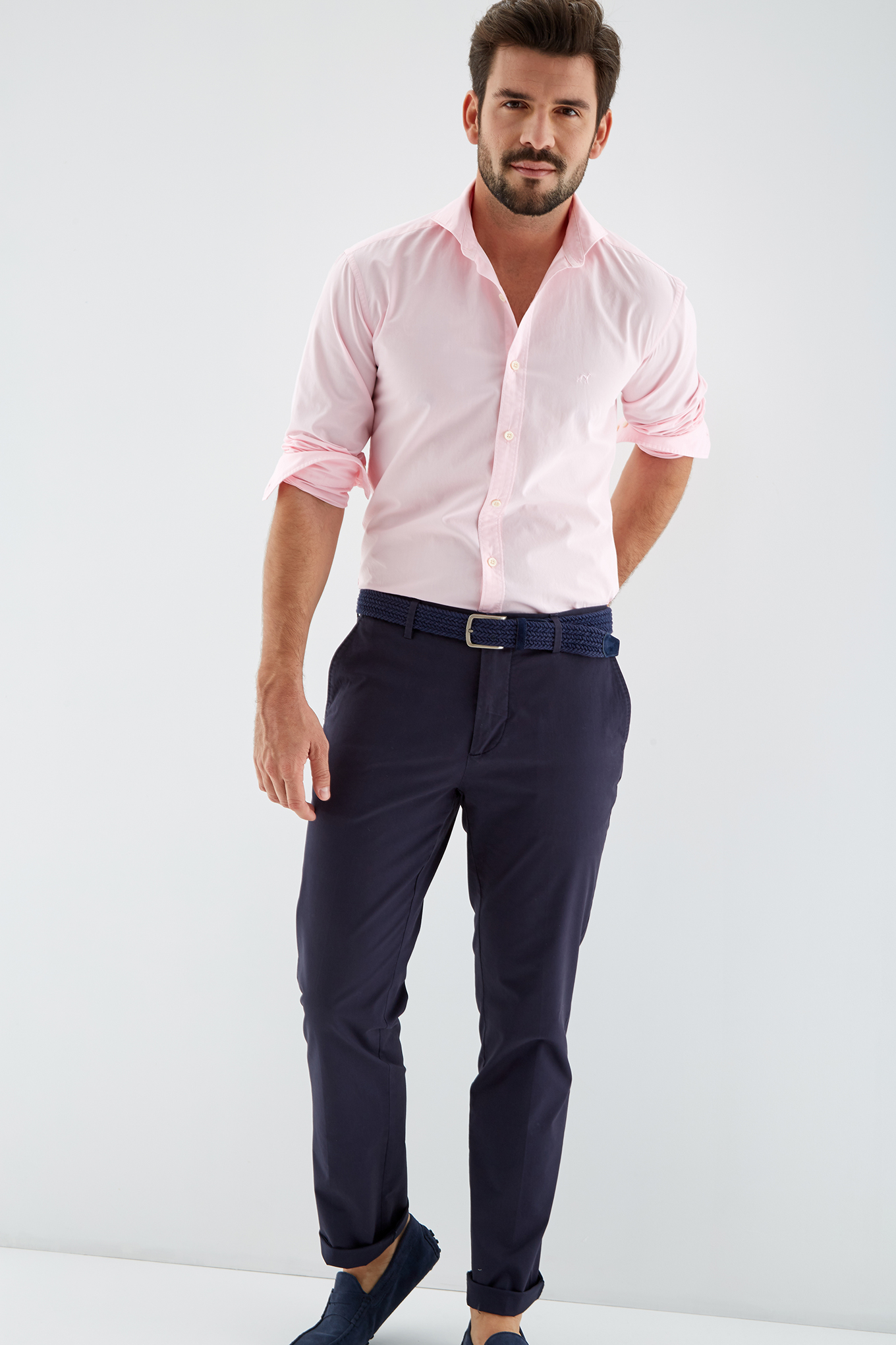 Shirt Light Pink Sport Man