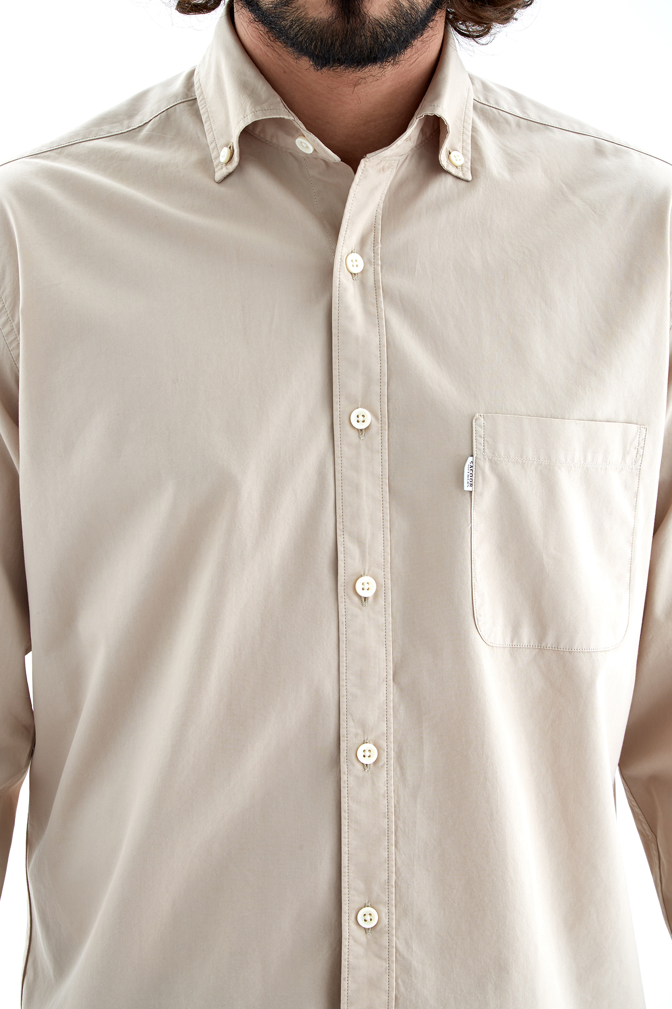 Shirt Light Beige Sport Man
