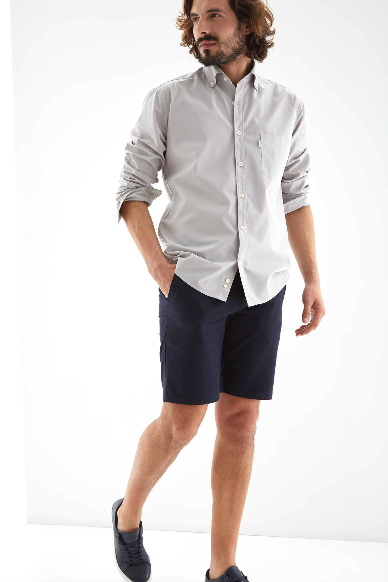 Shirt Light Grey Sport Man